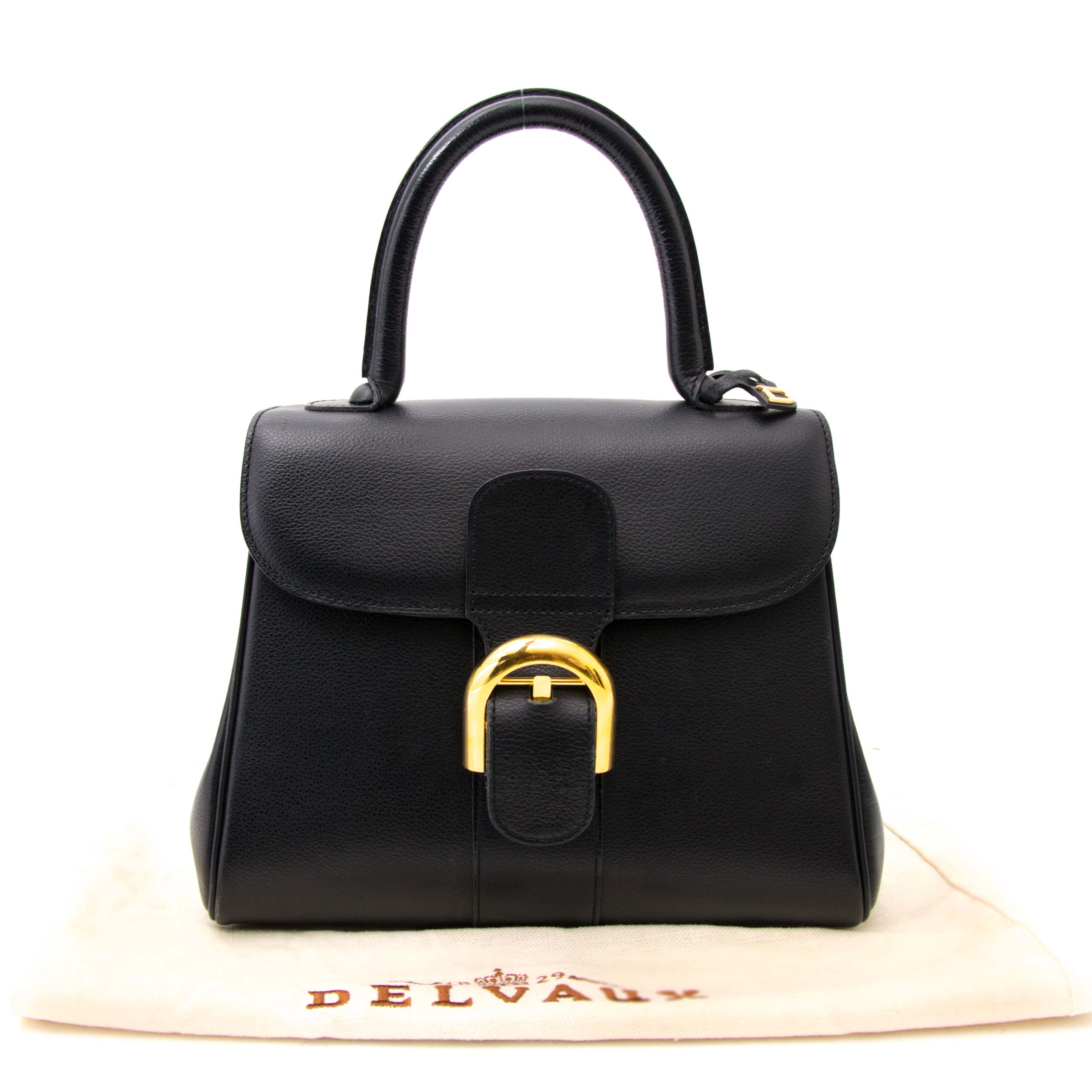 shop safe online  your secondhand Delvaux Brillant Black Pm GHW