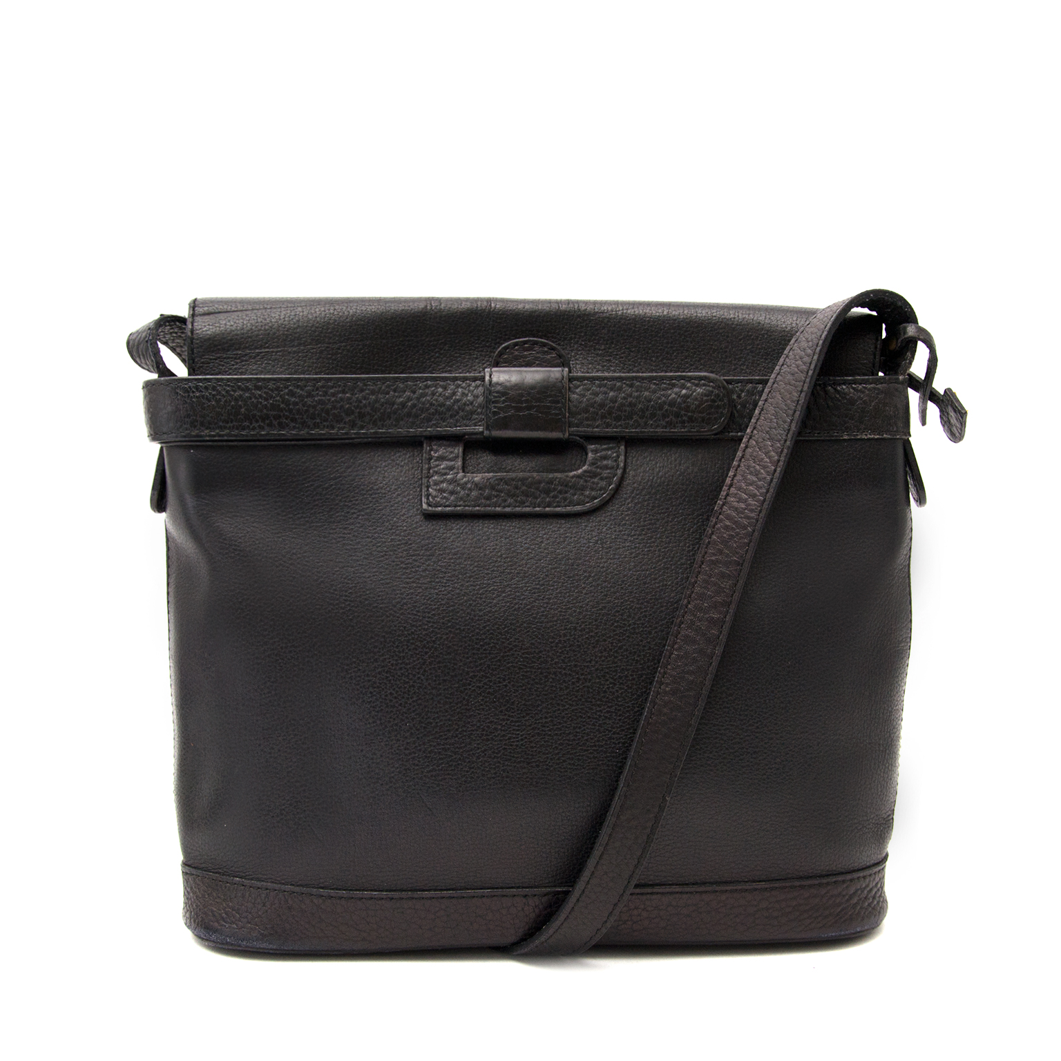 Buy a secondhand Delvaux Black Leather Cross Body Bag online