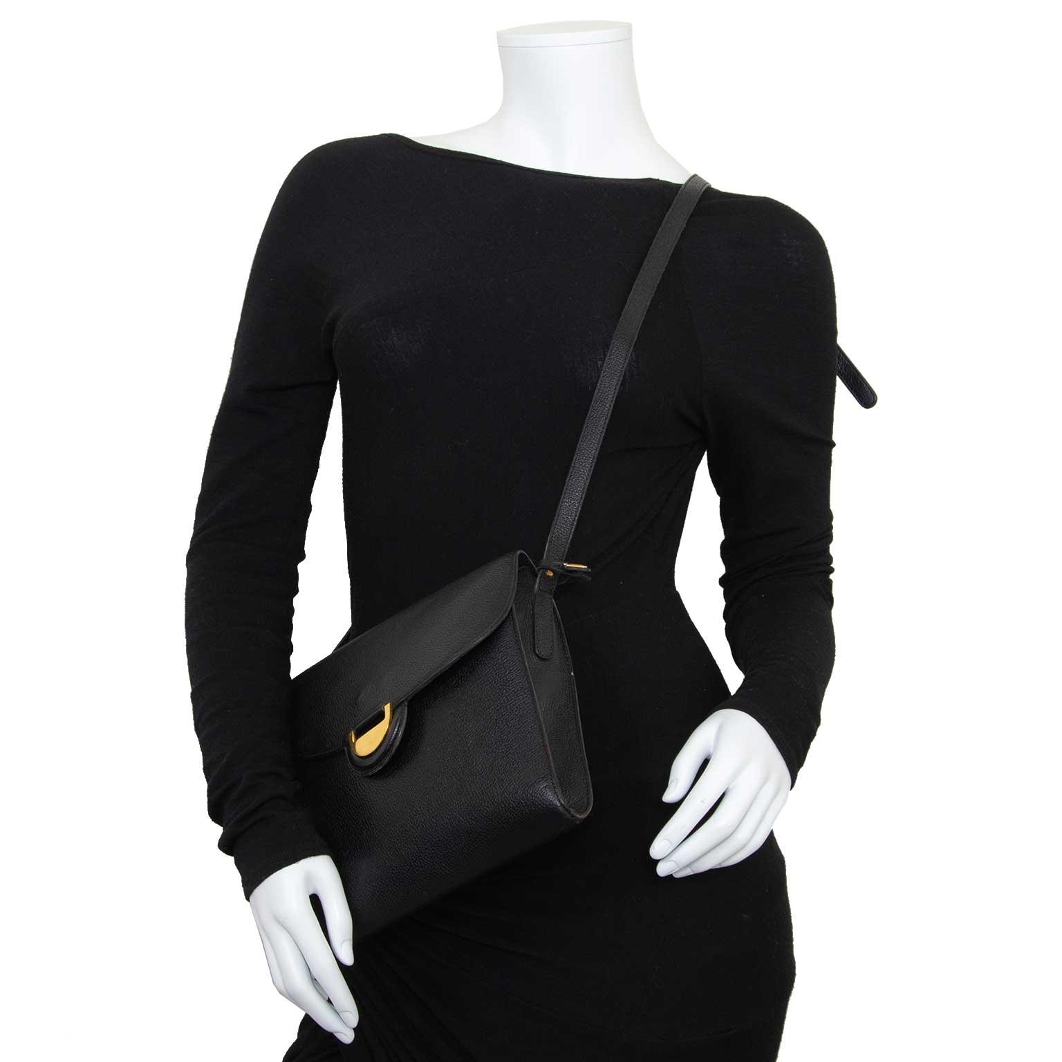 delvaux black crossbody bag now for sale at labellov vintage fashion webshop belgium