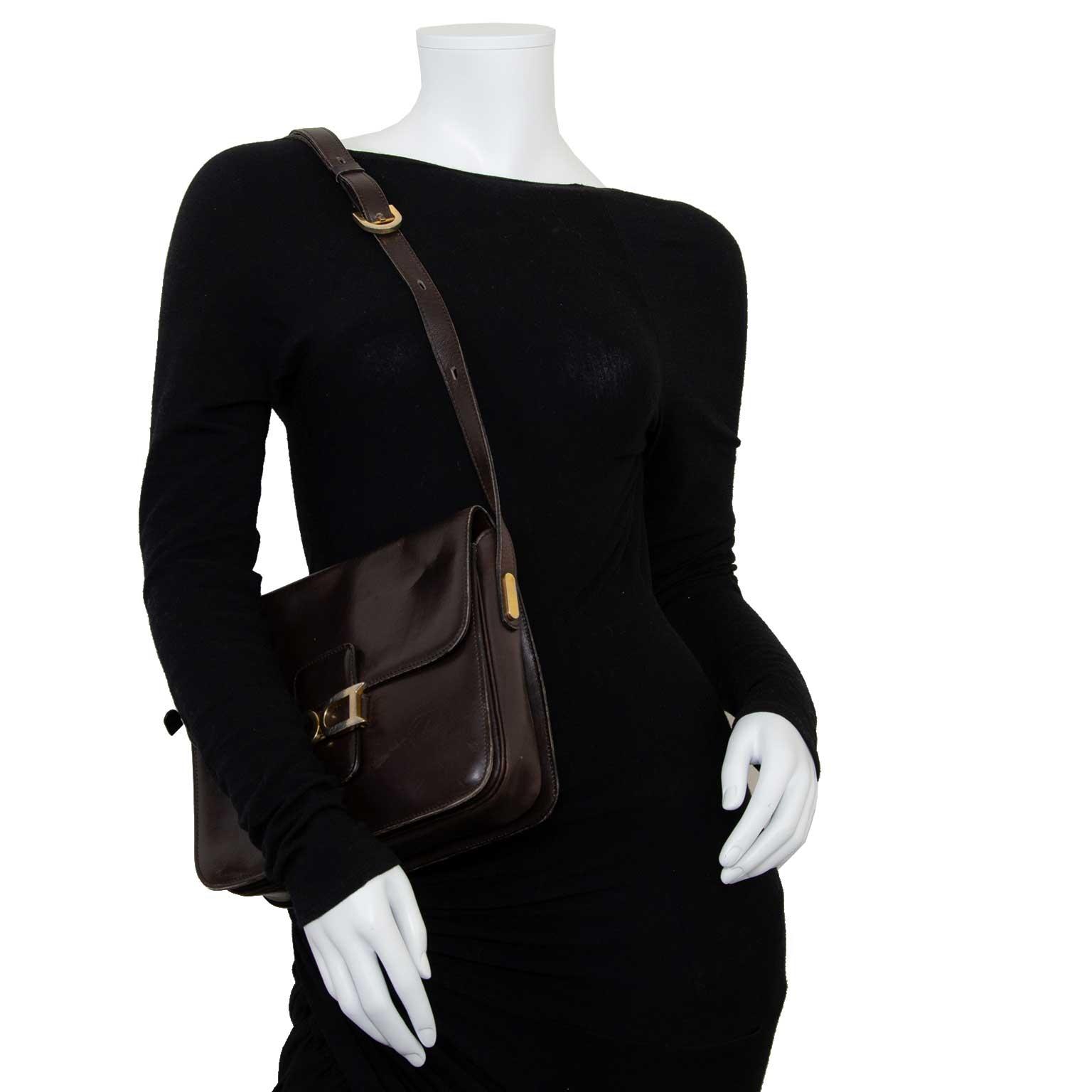 delvaux brown leather bourgogne bag now for sale at labellov vintage fashion webshop belgium