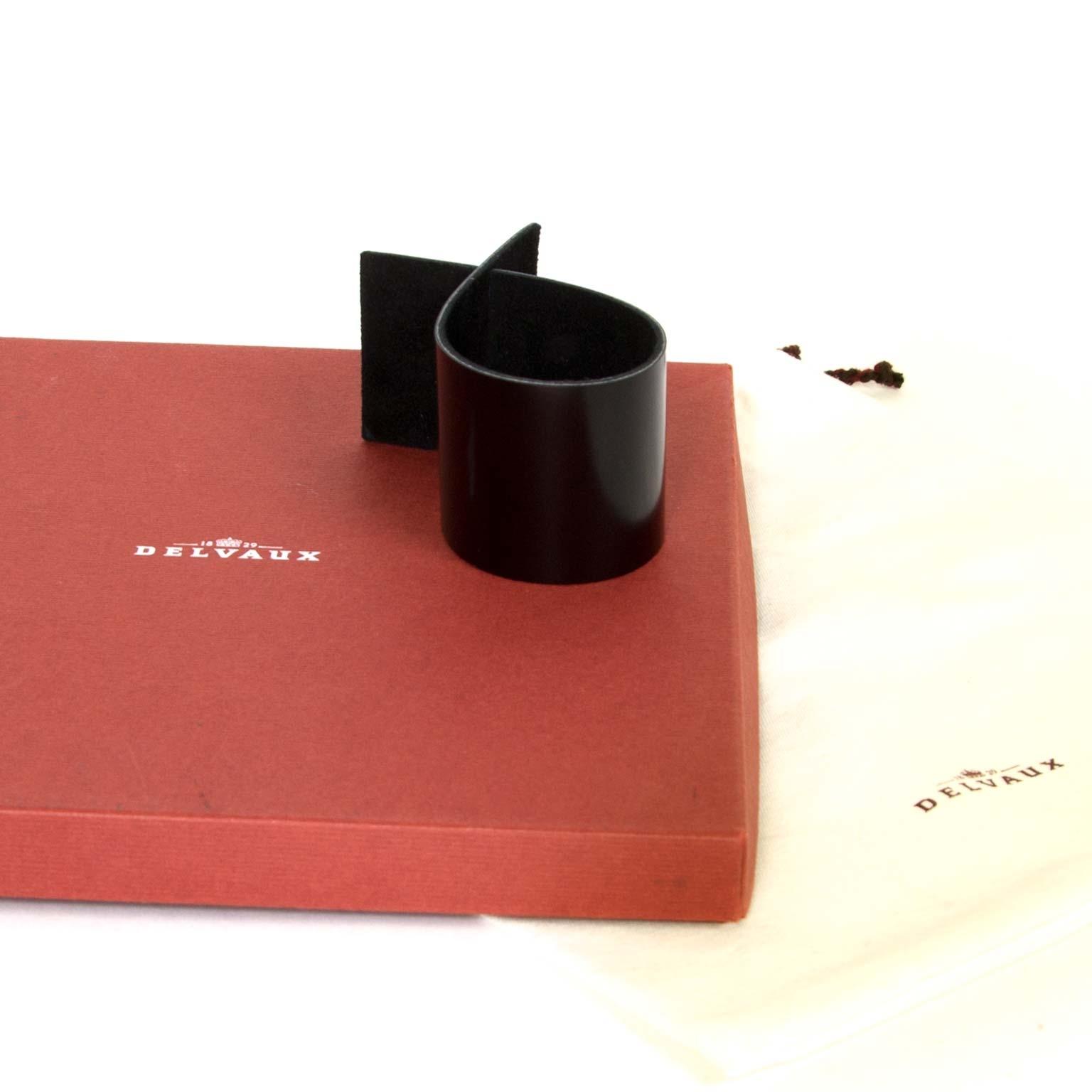 delvaux black leather bracelet kimiko y now for sale at labellov vintage fashion webshop belgium