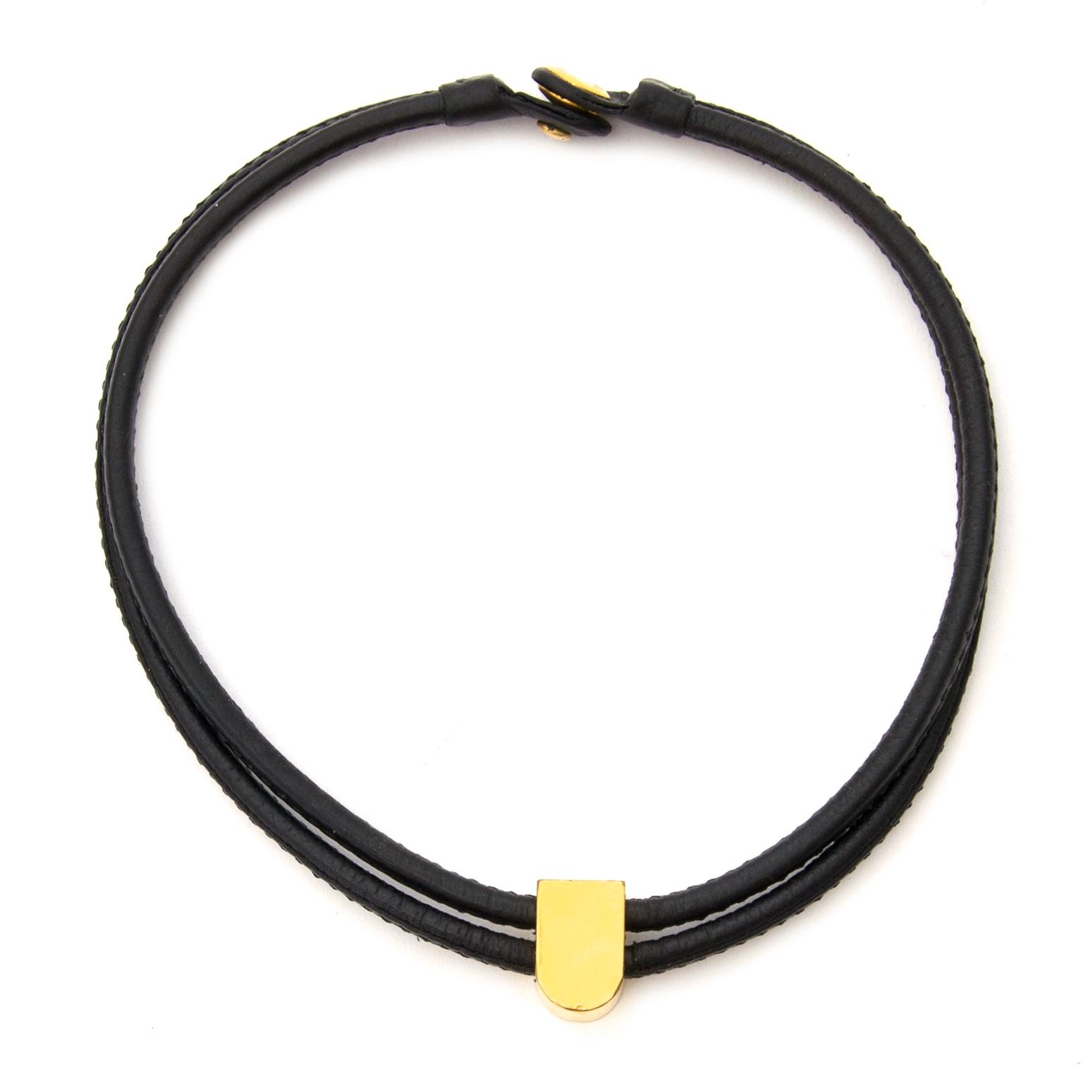 delvaux black d necklace now for sale at labellov vintage fashion webshop belgium