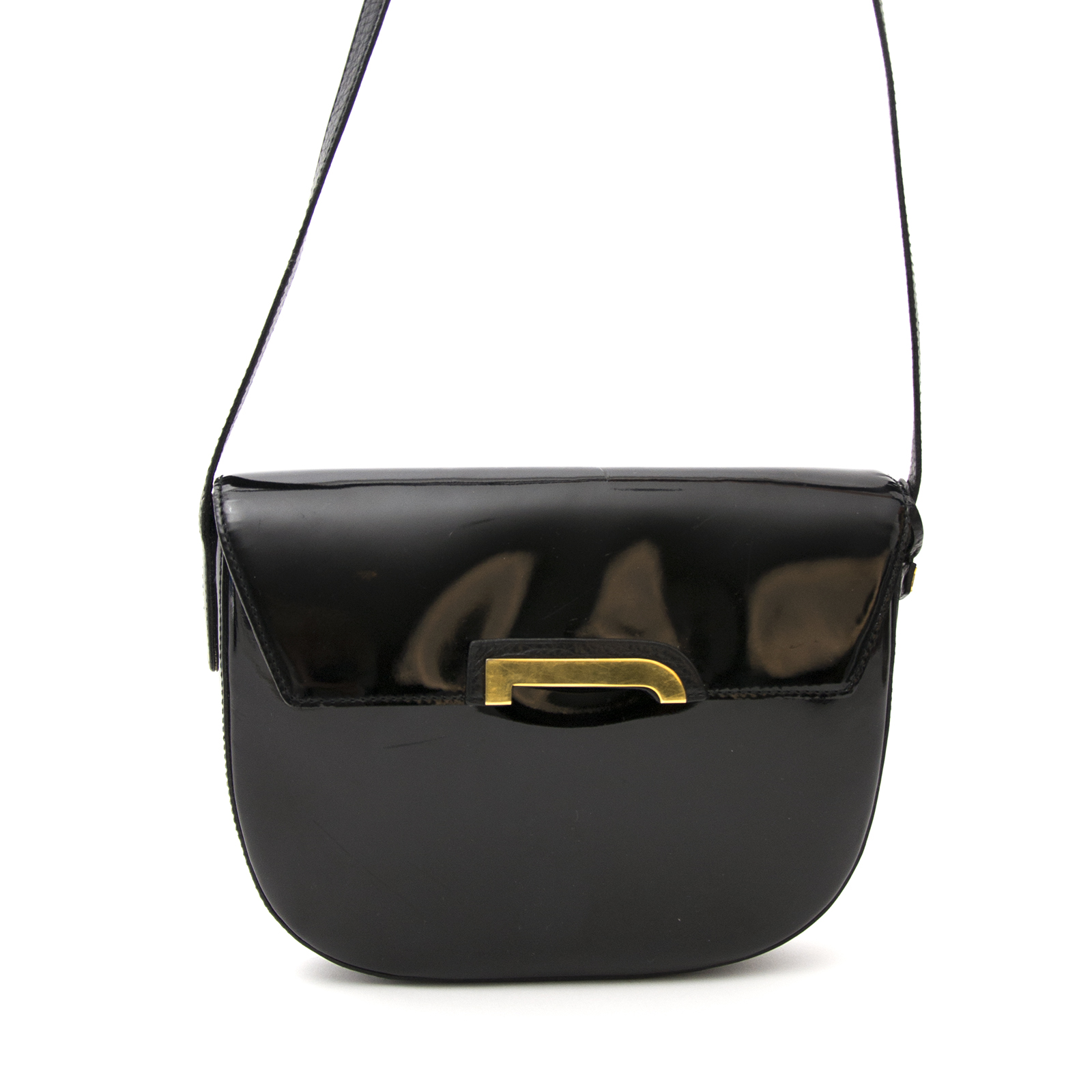 9ed44d3720af ... Achetez le Delvaux Black Crossbody Bag Patent Leather en ligne www. labellov.com
