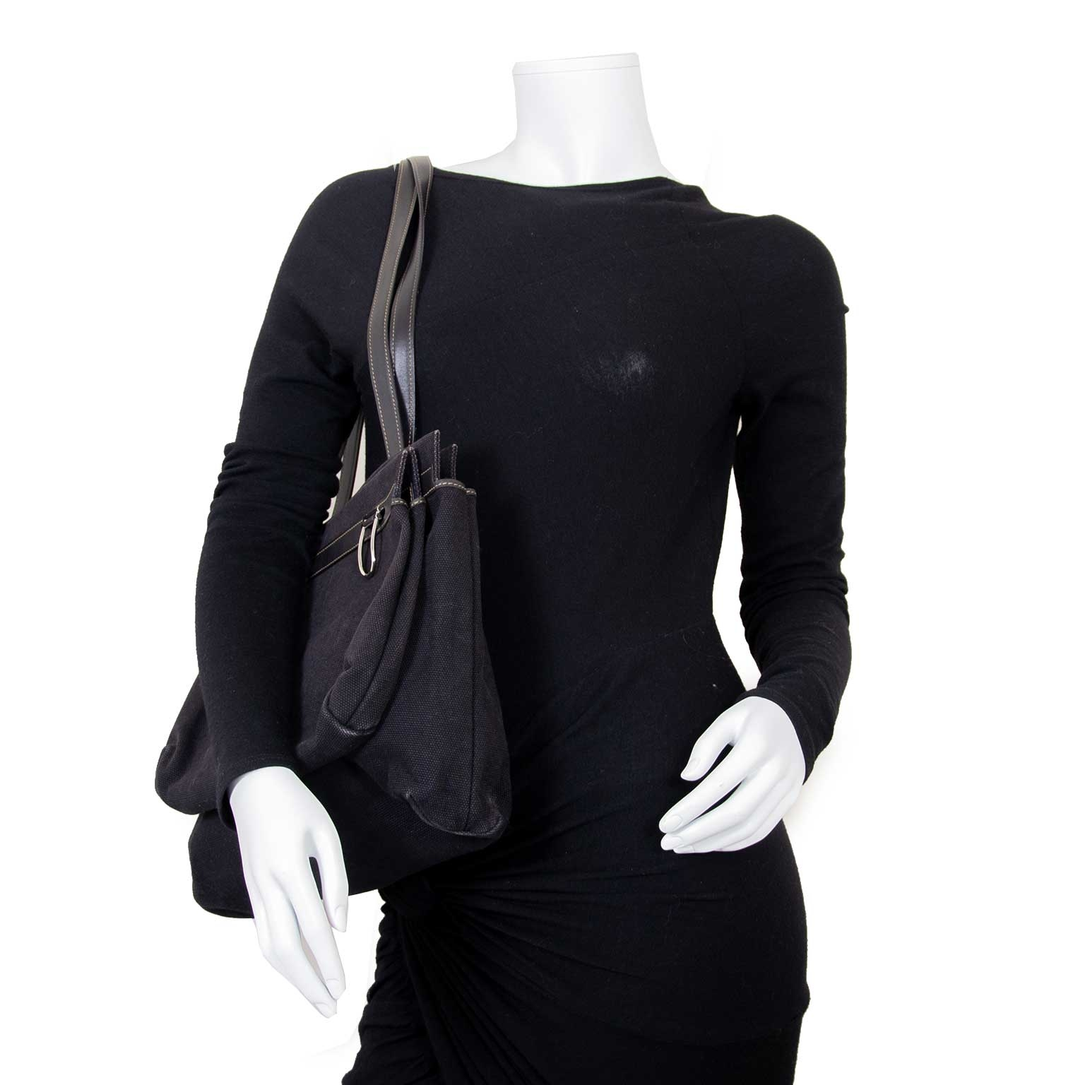 delvaux black fabric d light bag now for sale at labellov vintage fashion webshop belgium