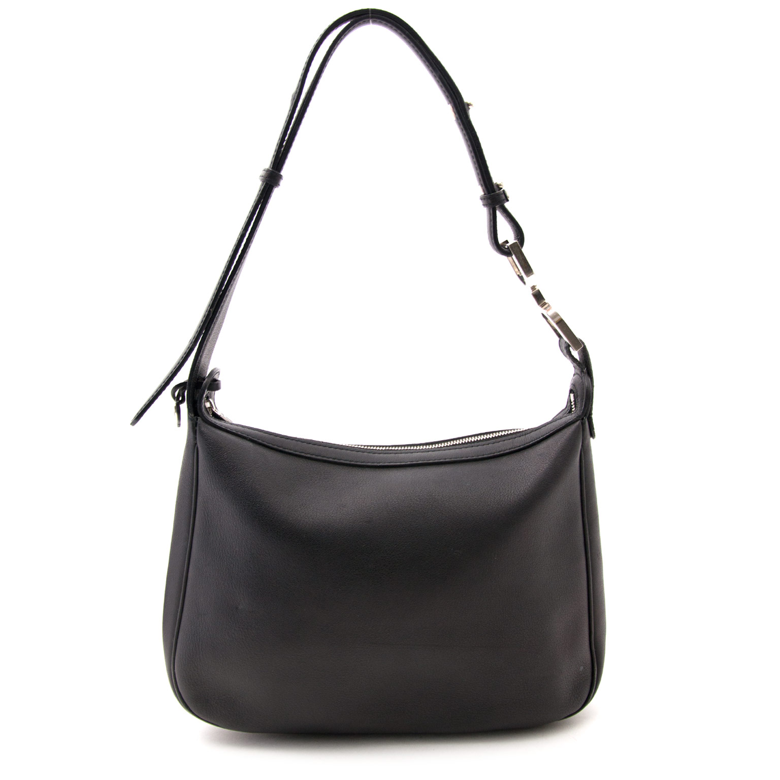 We buy and sell your timeless luxury bags such as Delvaux Black Leather Shoulder Bag