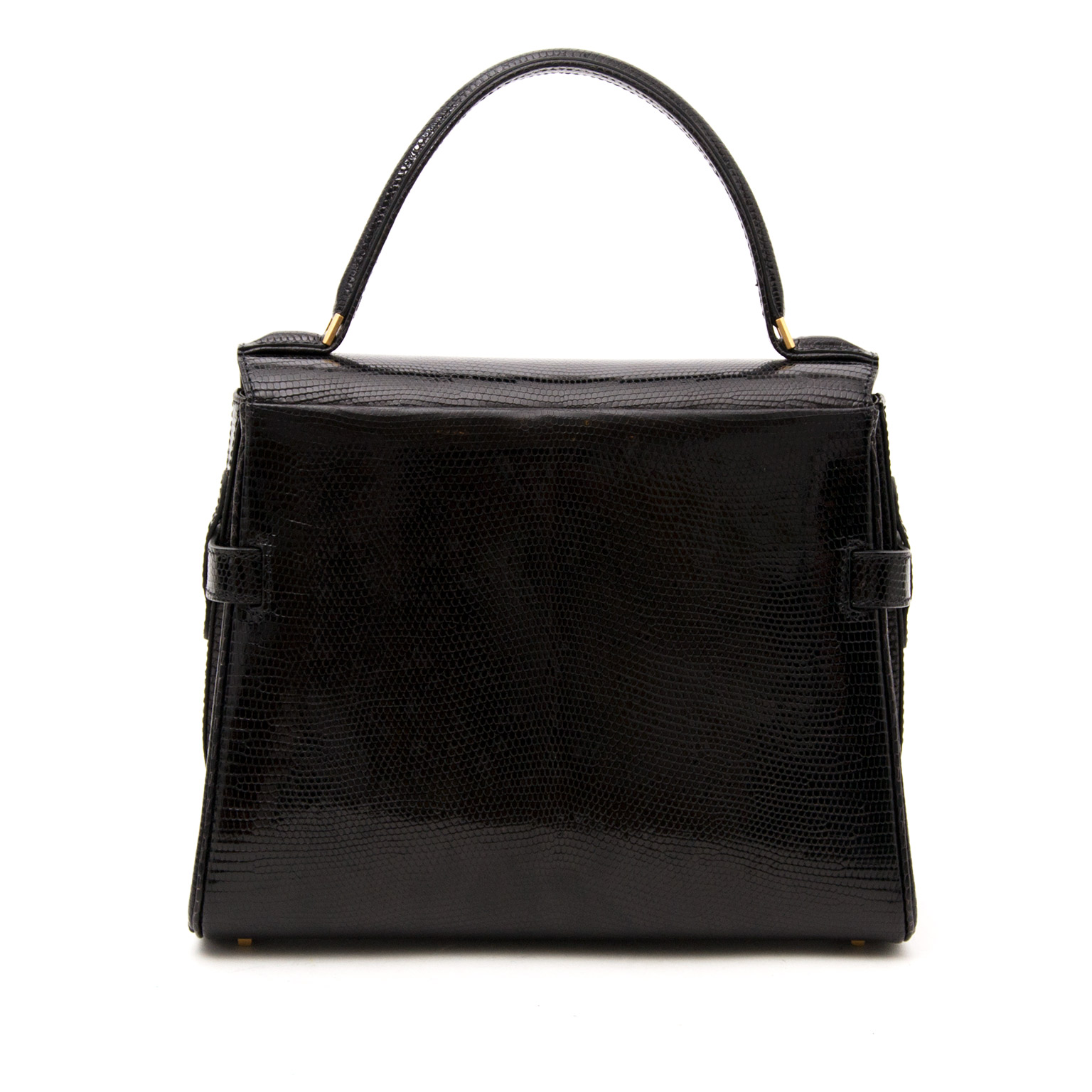100% authentic seconde main sac a main Delvaux Tempête PM Black Lizard