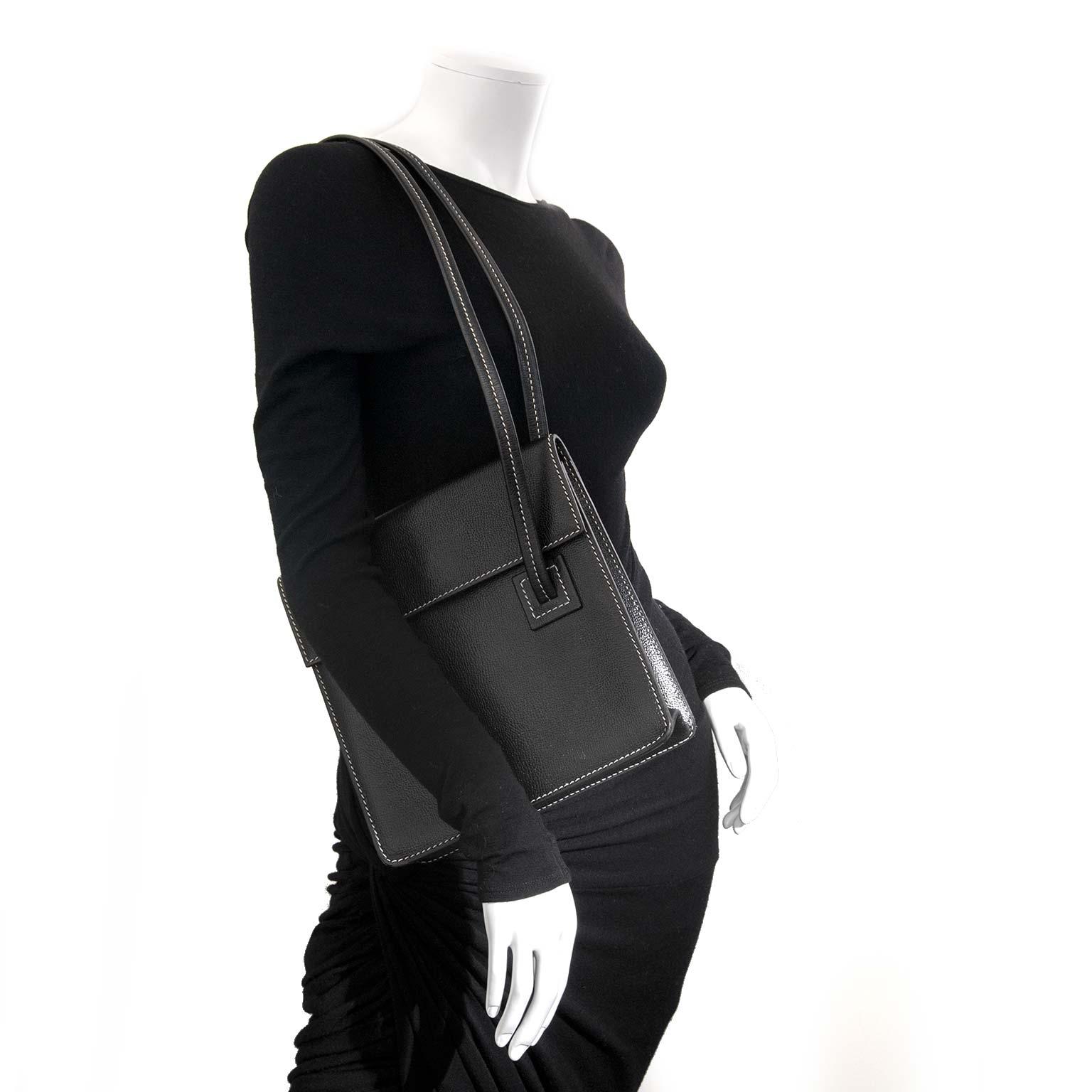 9935694cfd9f55 ... delvaux black santal shoulder bag now for sale at labellov vintage  fashion webshop belgium