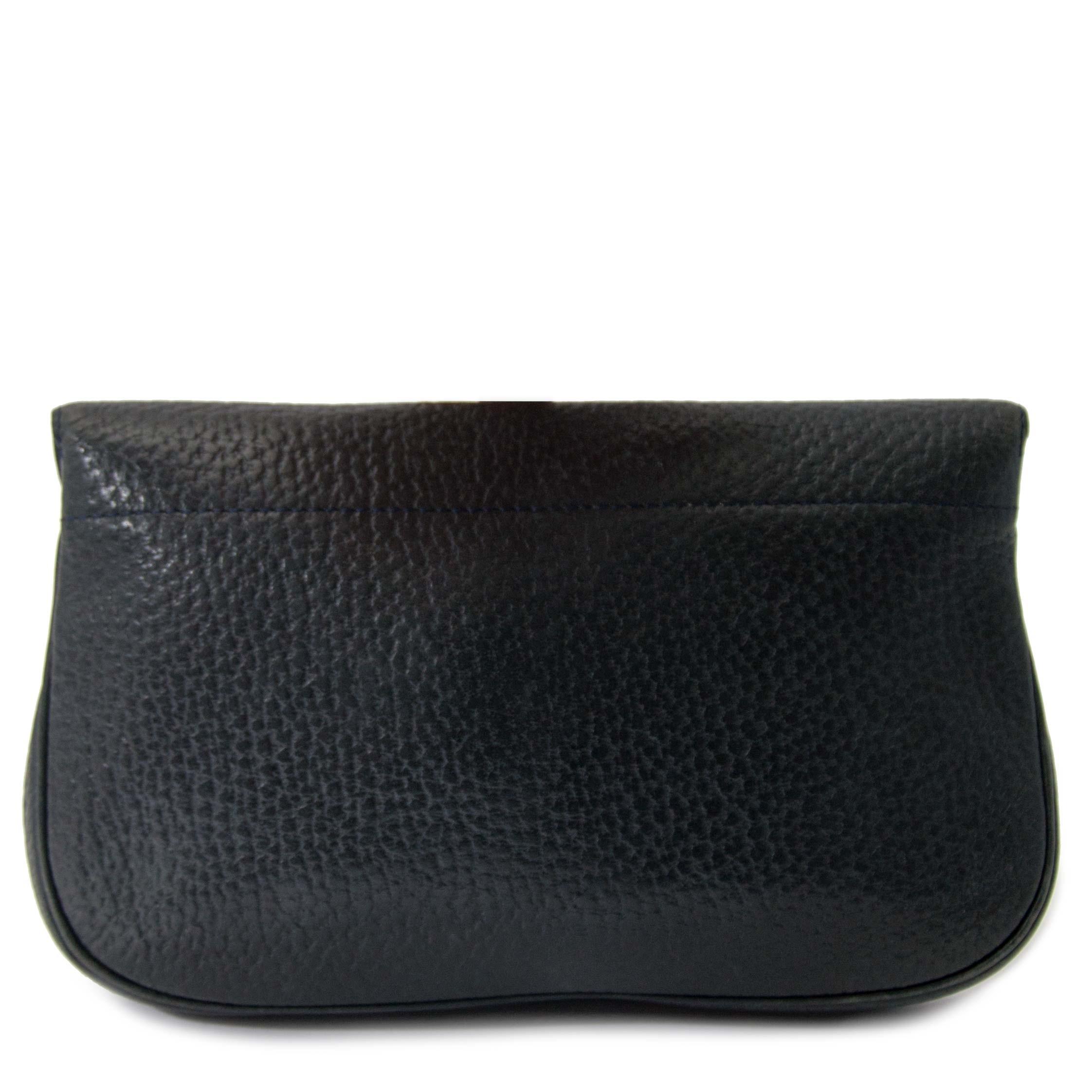 032a8688515 Delvaux Dark Blue Leather Pochette for sale online at Labellov secondhand  luxury Koop en verkoop uw authentieke designer tassen bij Labellov in  Antwerpen