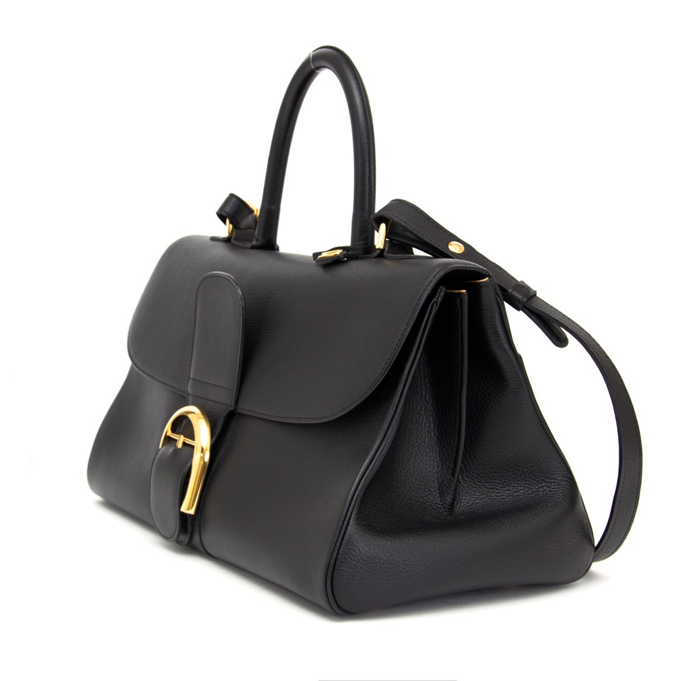 Buy Delvaux Brillant East West Black sellier leather.  at the right price at LabelLOV vintage webshop. Luxe, vintage, fashion. Safe and secure online shopping. Antwerp, Belgium.