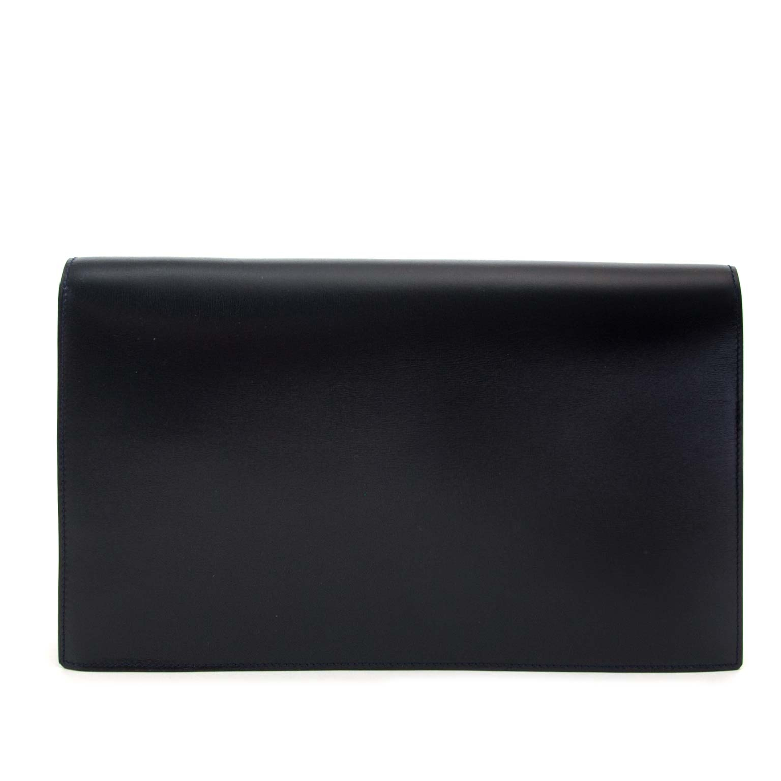 buy Delvaux Dark Blue Leather Clutch and pay save online
