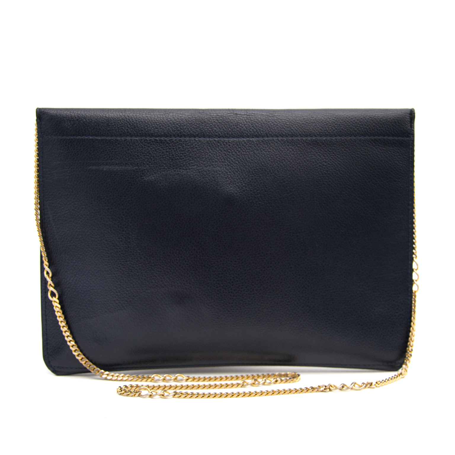 Delvaux Blue leather clutch now online at labellov.com for the best price