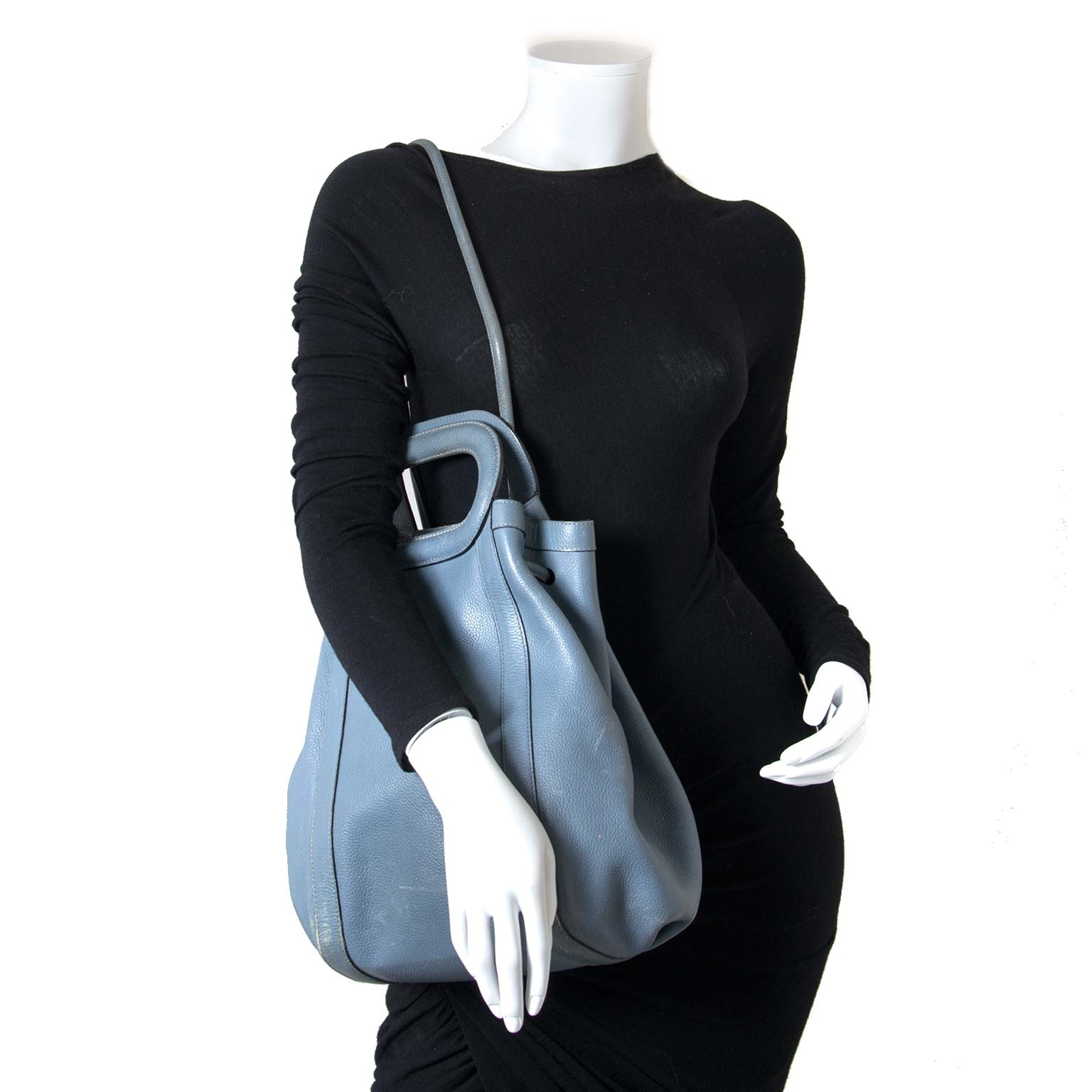 ... Delvaux Blue Punch Shoulder Bag now for sale at labellov vintage  fashion webshop belgium f1e93eae0a48c