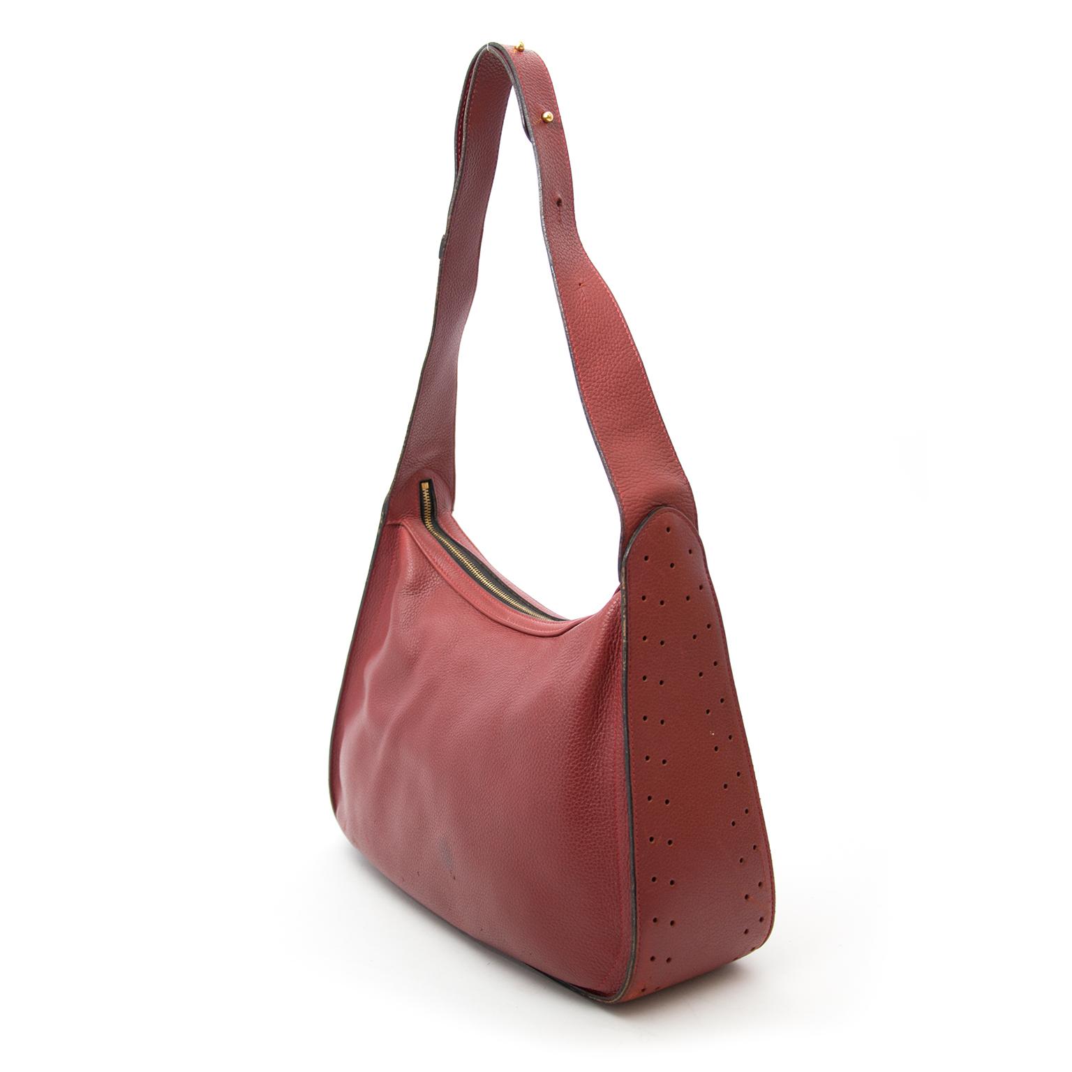Een tweedehands Delvaux Wine Shoulder Bag te koop