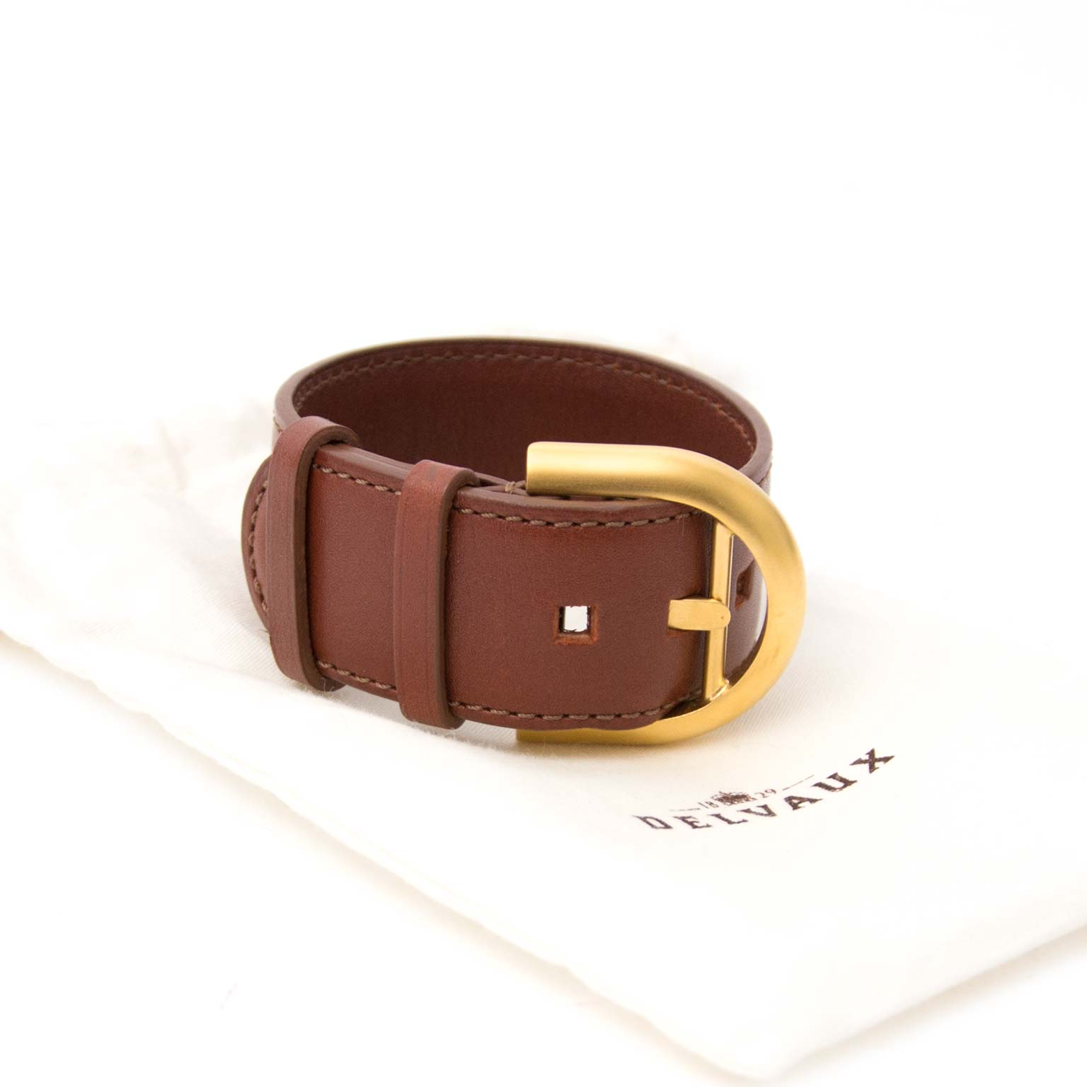 Delvaux Brown and Gold Brillant Bracelet shop safe online at the best price
