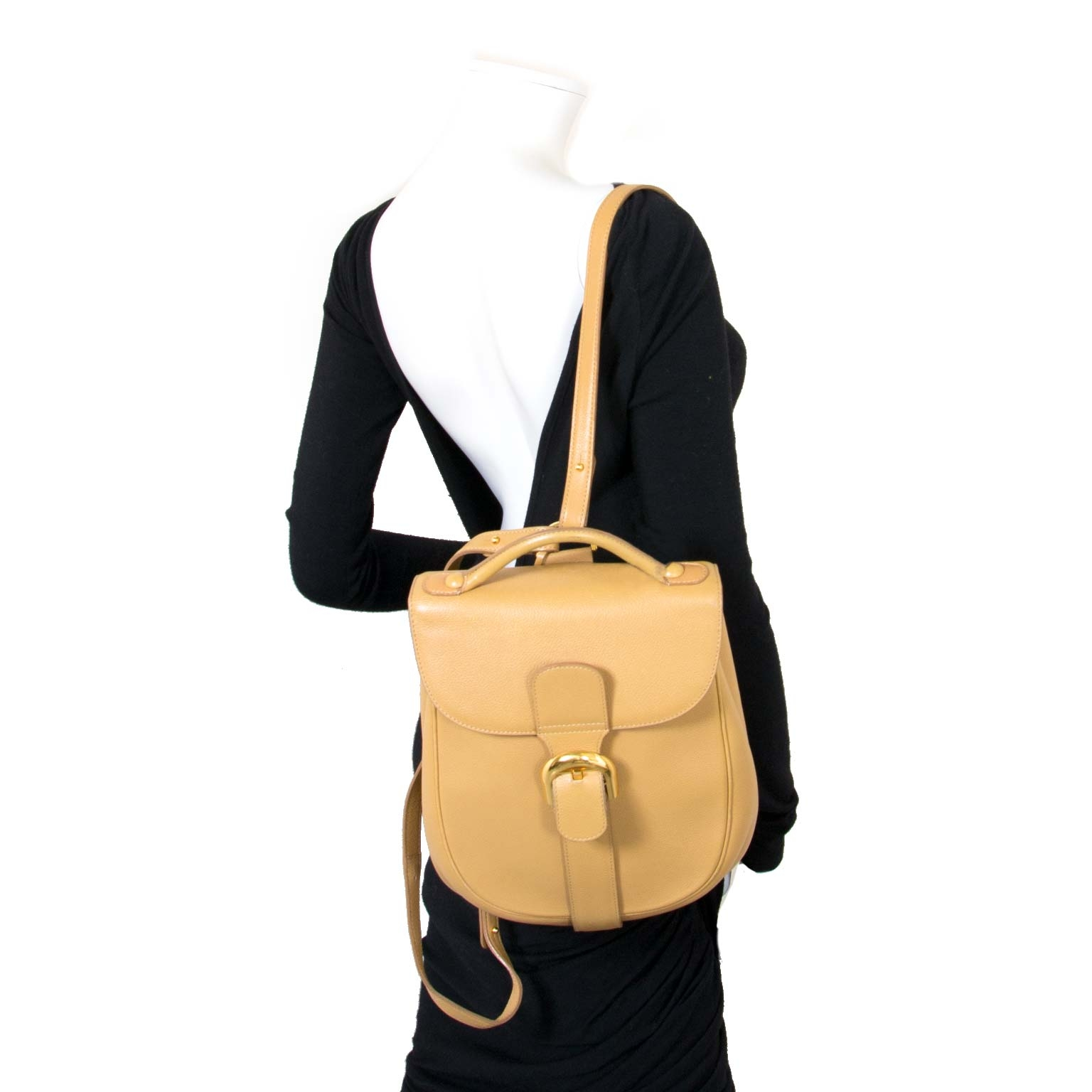 Delvaux Beige Brillant Backpack now for sale at labellov vintage fashion webshop belgium