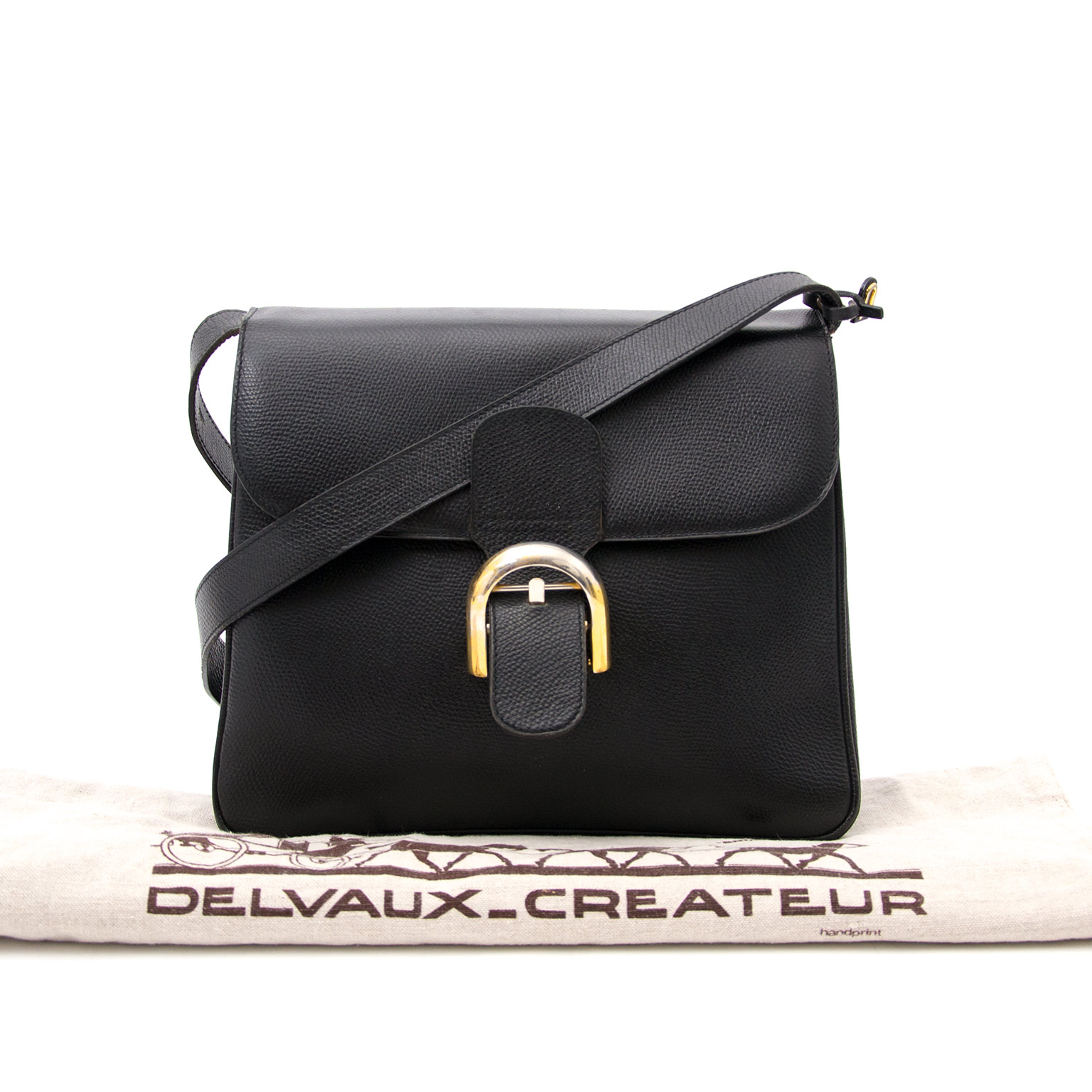 Shop online Delvaux Brillant Baudrier Black Leather Bag at Labellov.com