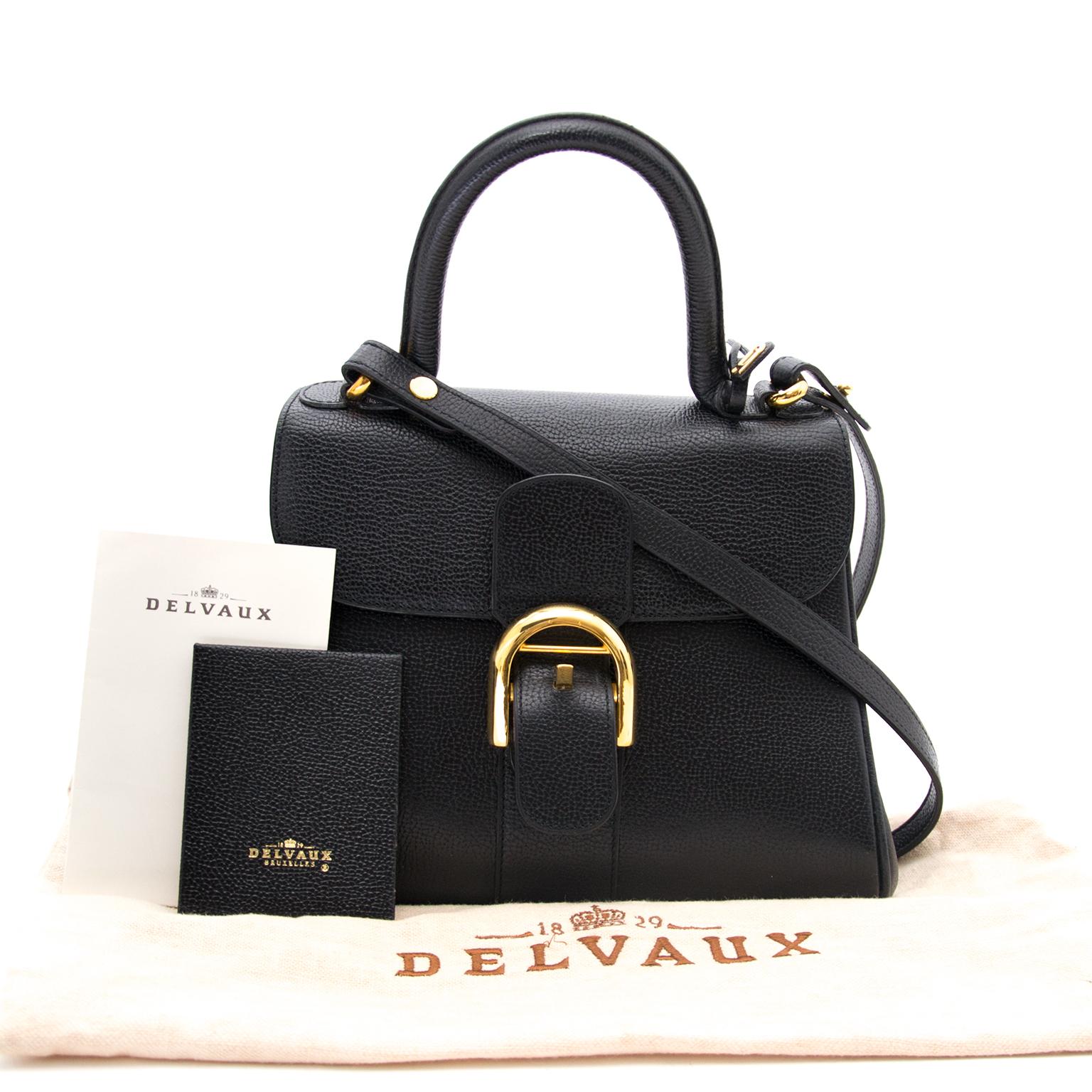 acheter en ligne pour le meilleur prix sac a main Delvaux Black Brillant PM + Strap