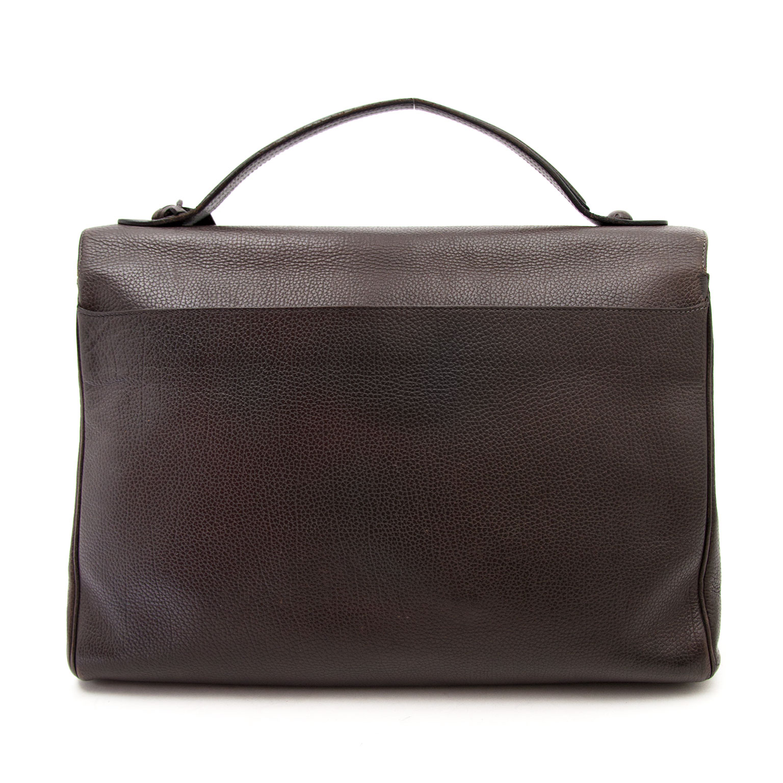 koop veilig online aan de beste prijs Delvaux Brown Brillant Briefcase