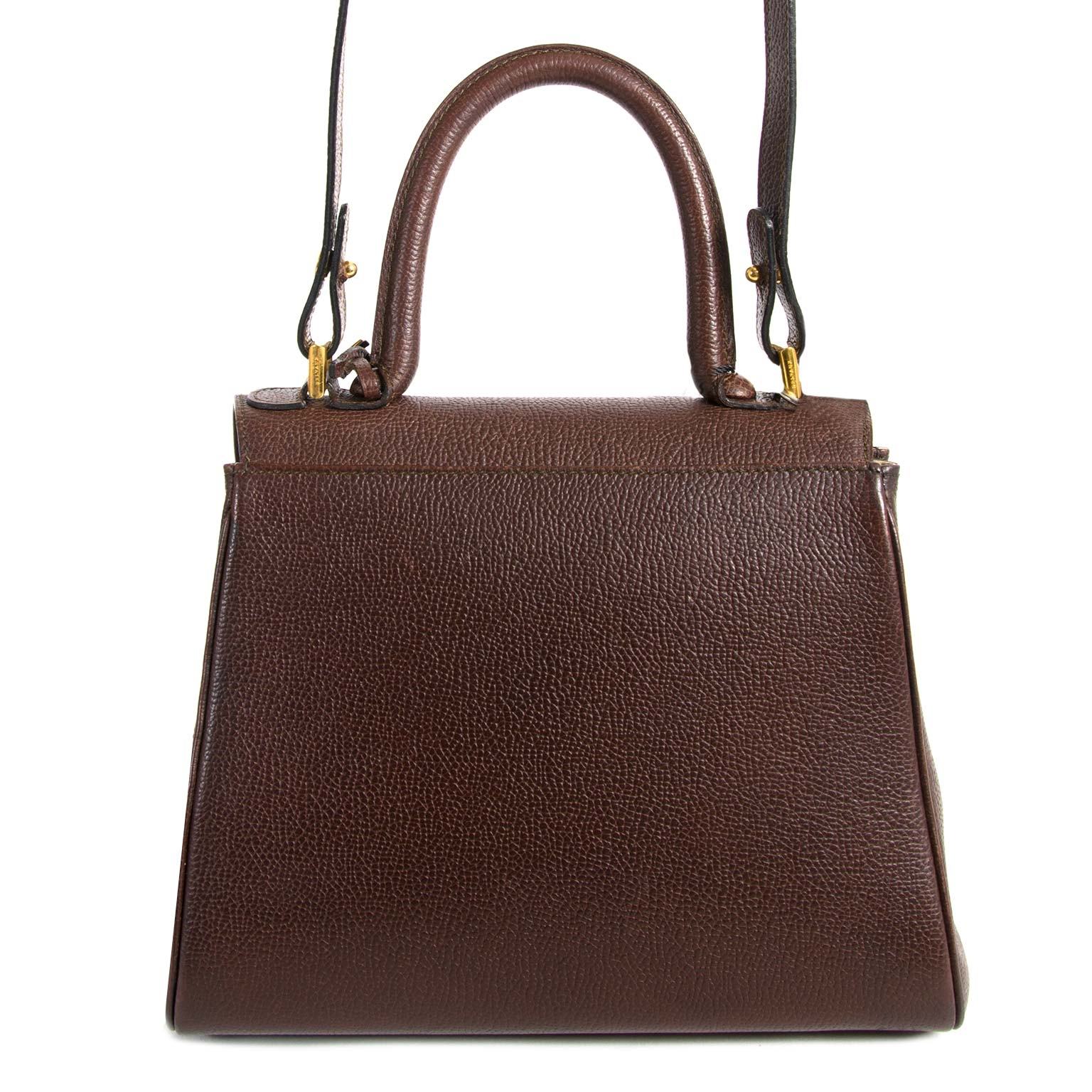 Delvaux Brillant Brown PM Bag now for sale at Labellov vintage fashion webshop belgium