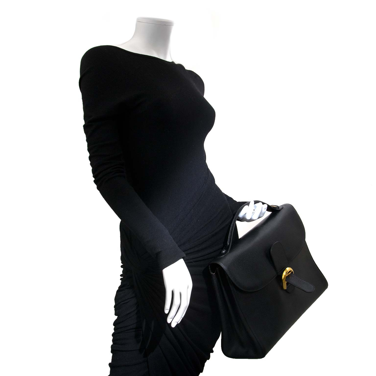 delvaux black brillant briefcase now for sale at labellov vintage fashion webshop belgium