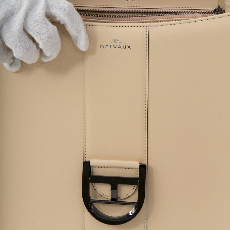 acheter en ligne secondemain sac a main sac a main BRAND NEW Delvaux Brillant GM Box Calf Poudré