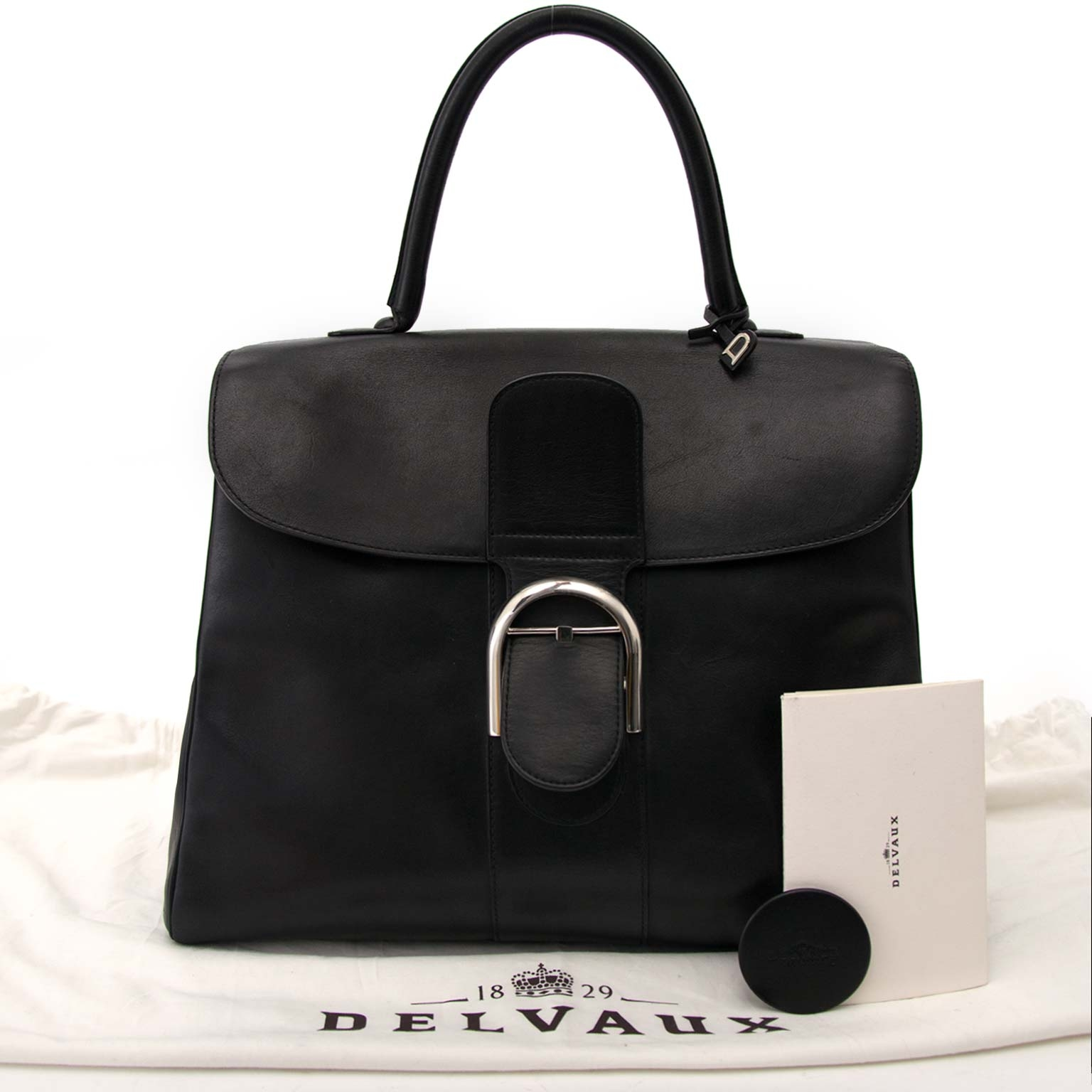 a5315cd54562 ... Delvaux Brillant Black GM Souple Bridon koop veilig online tegen de  beste prijs Delvaux Brillant Black