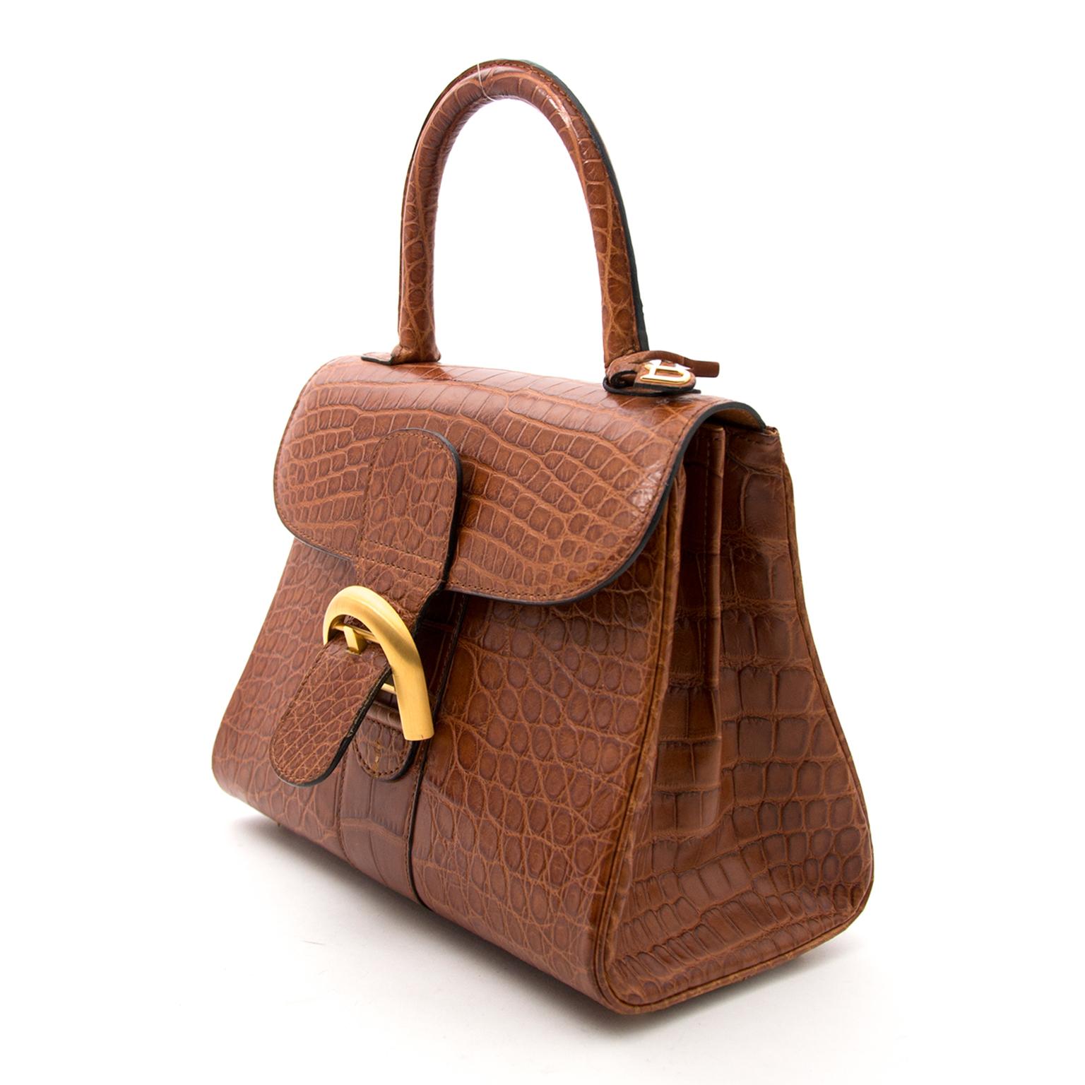 Acheter secur en ligne des sacs a mains As Delvaux Brillant Croco matte Miel PM pour le meilleur prix