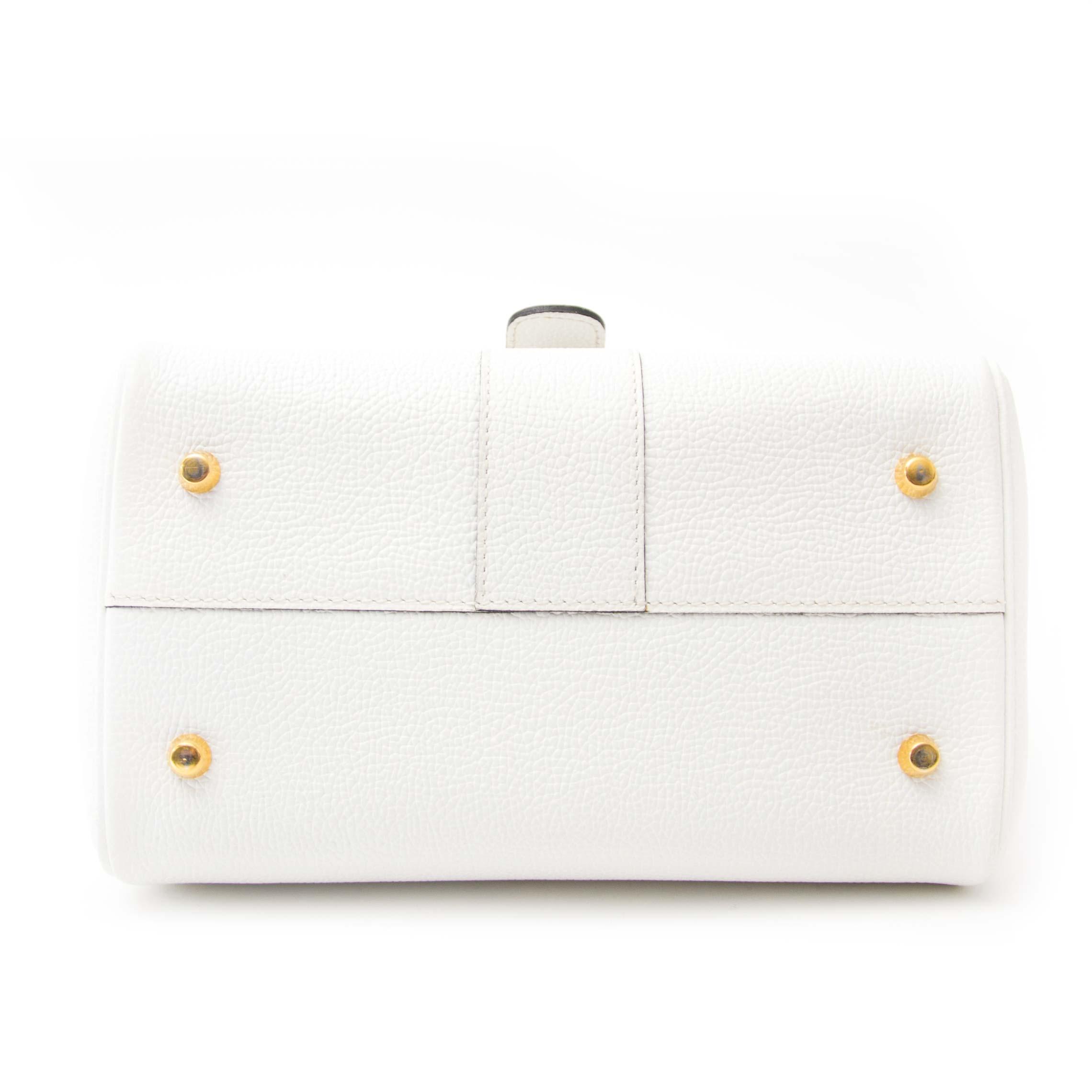 koop online aan de besete prijs joiu tweedehands Delvaux White Brillant Mini GHW