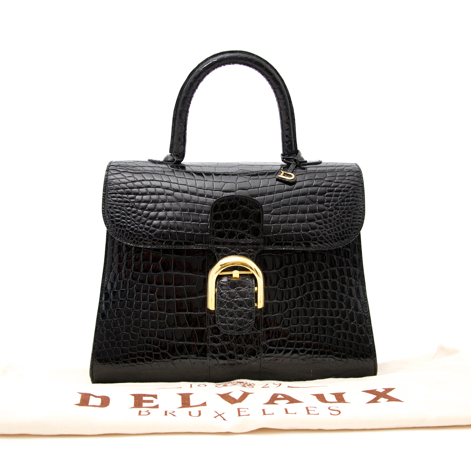 Are you looking for a Delvaux Black Crocodile Brillant MM? Shop yours at Labellov