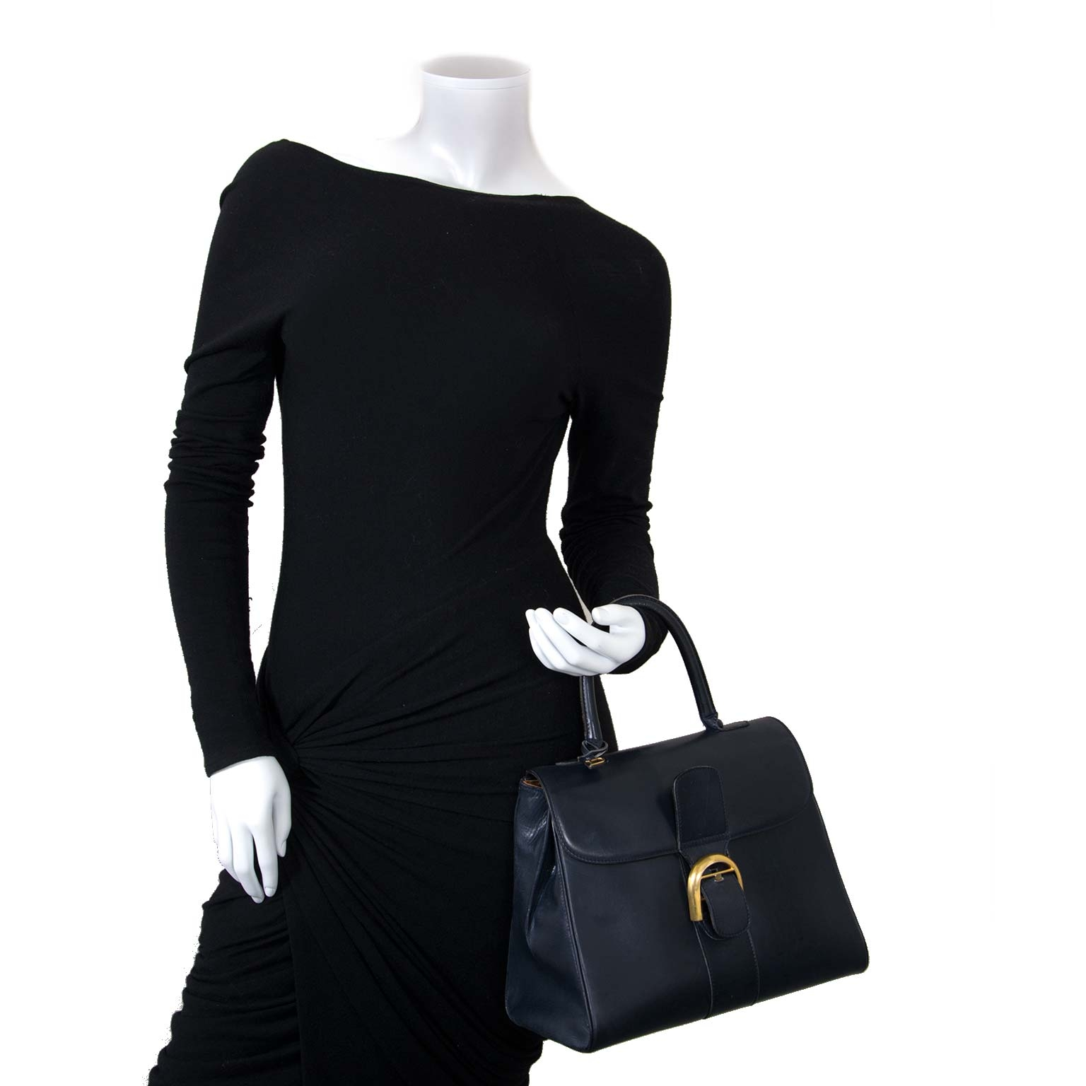 delvaux brillant dark blue mm bag now for sale at labellov vintage fashion webshop belgium
