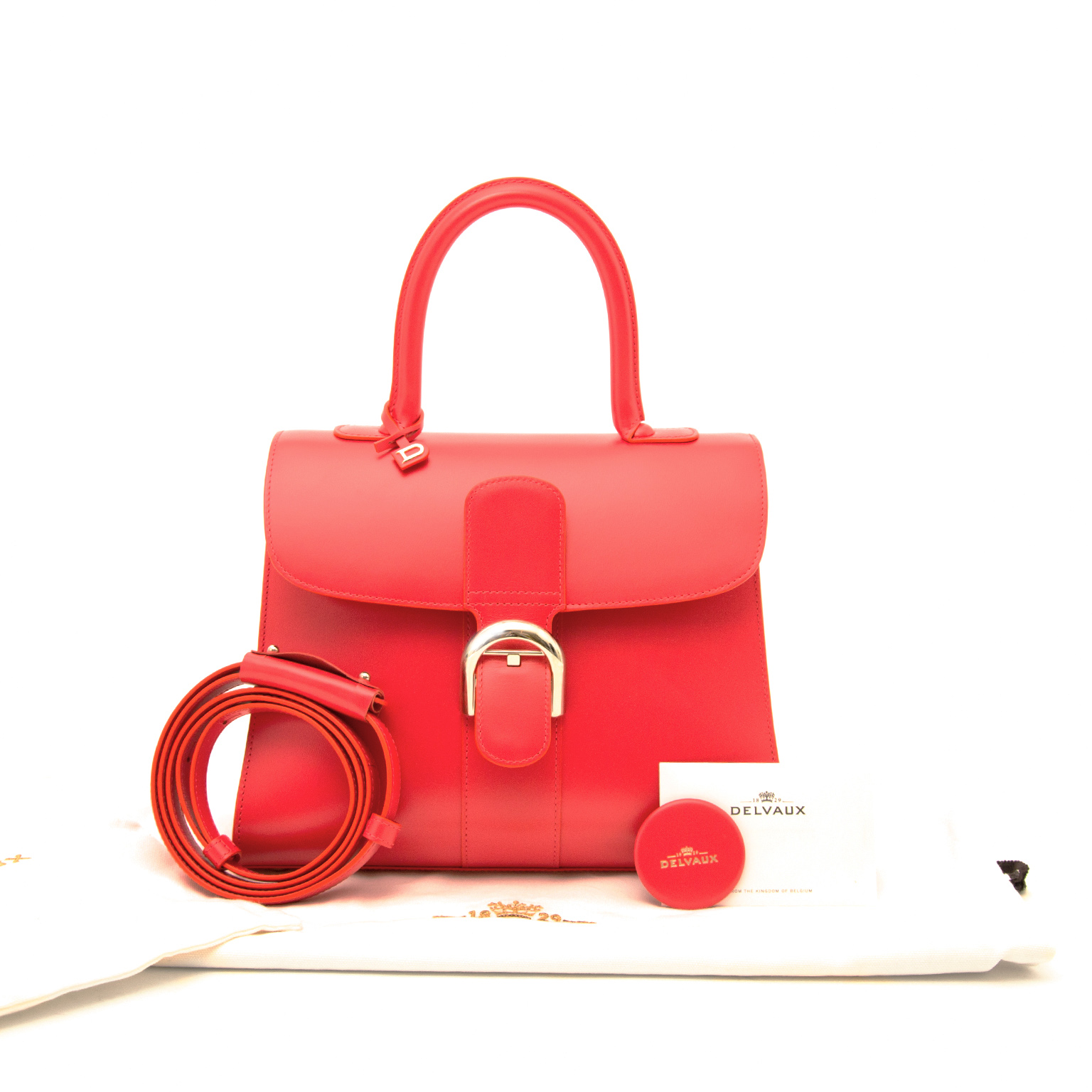 buy a secondhand brand new delvaux brillant coral mm online