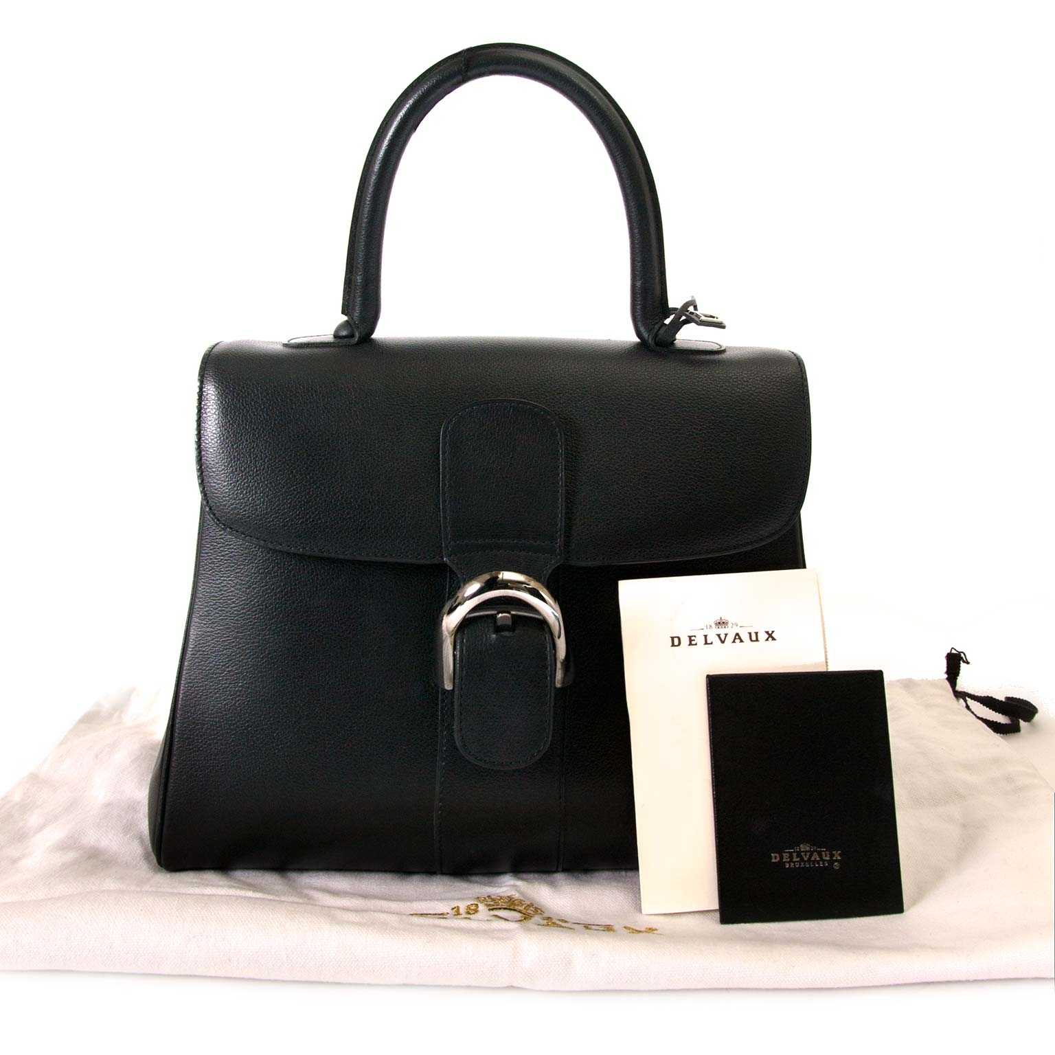 Delvaux Brillant Black MM Bag now for sale at labellov vintage fashion webshop belgium