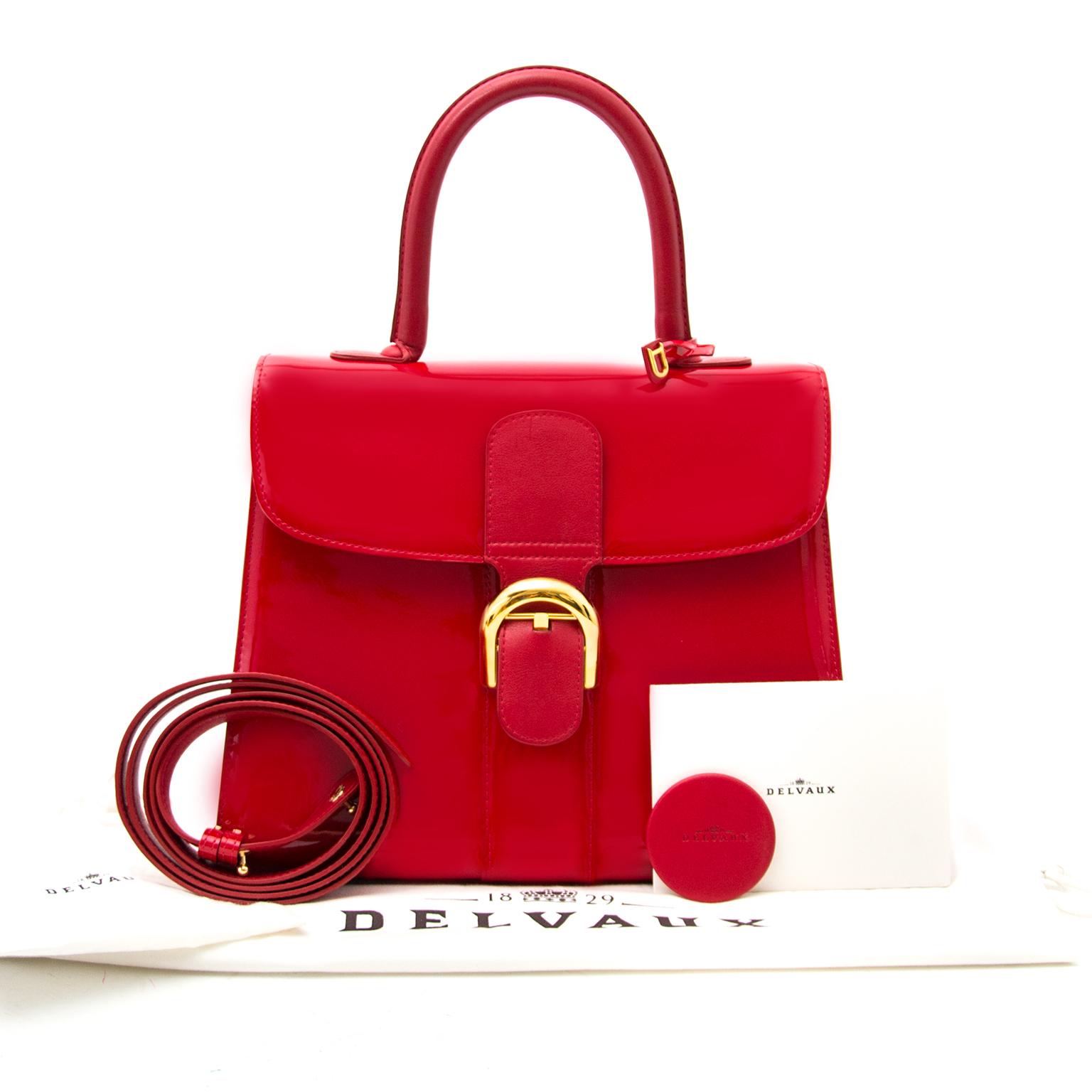 Acheter en ligne chez Labellov.com Delvaux Red Brillant Patent MM Bag