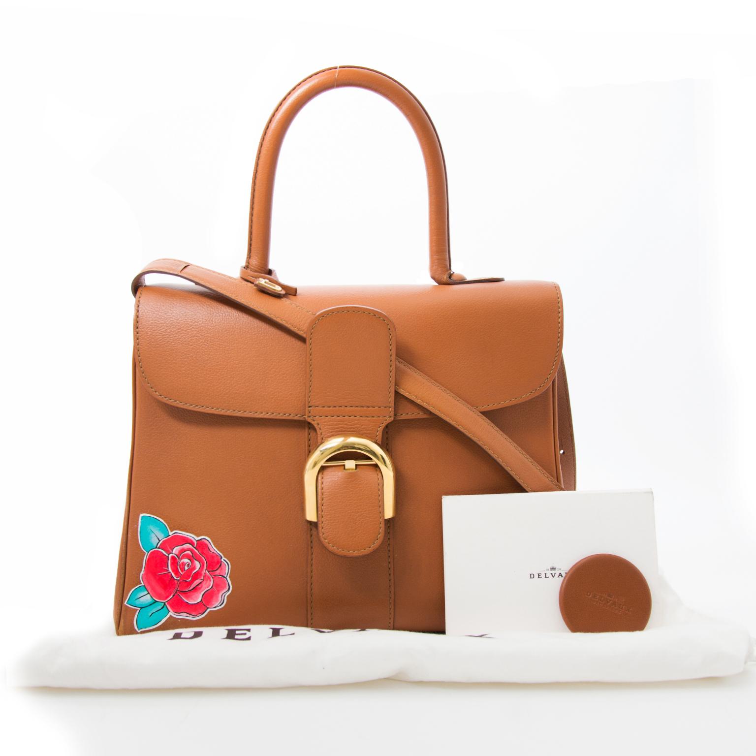 koop veilig online tegen de beste prijs Delvaux Brillant MM Hand Painted Flower Bag