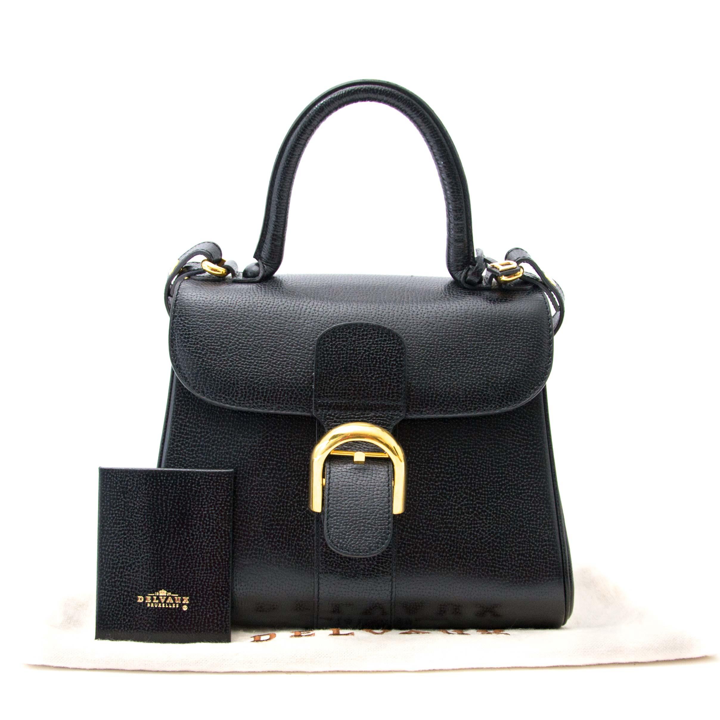 achter en ligne pour le meilleur prix sac a main Delvaux Brillant MM Black Leather