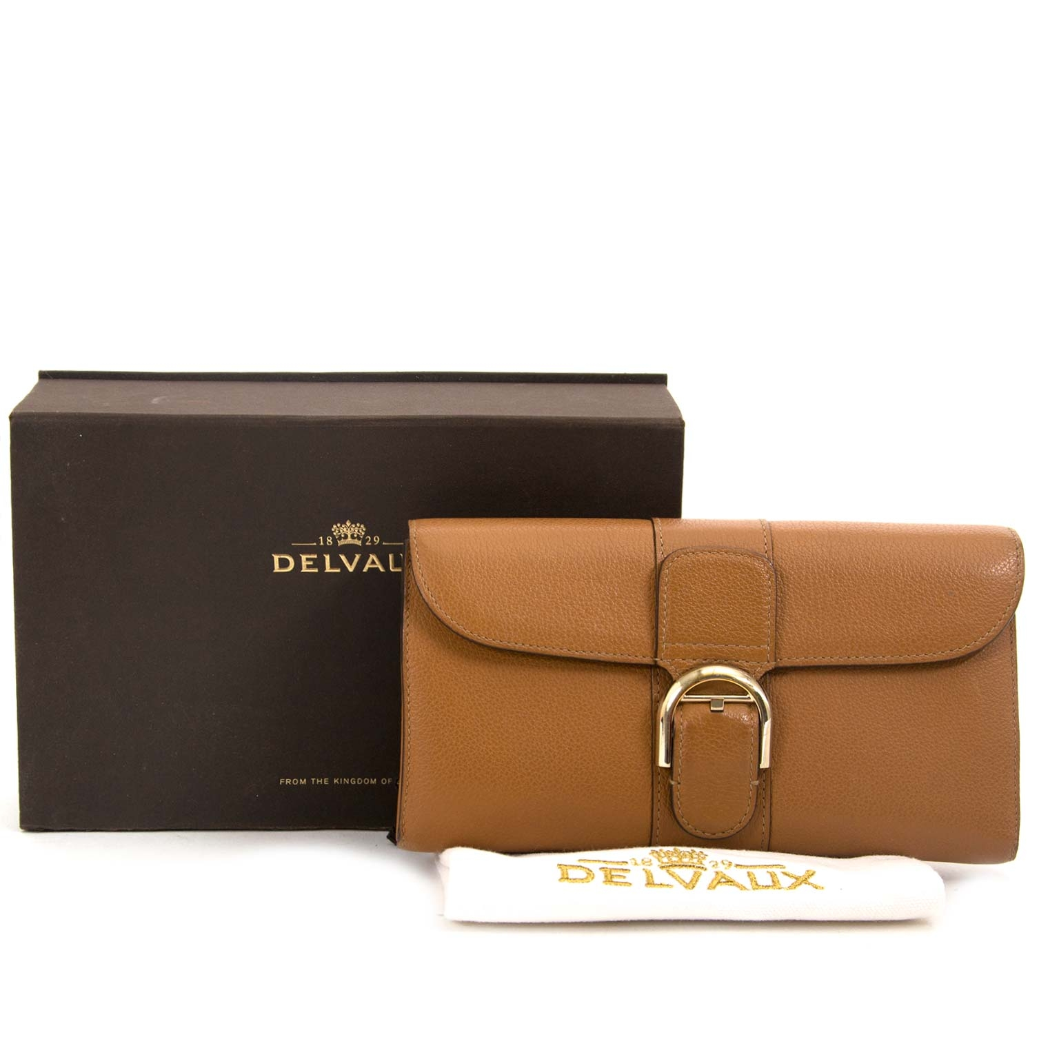 Delvaux Brillant PTF Long Leather Wallet