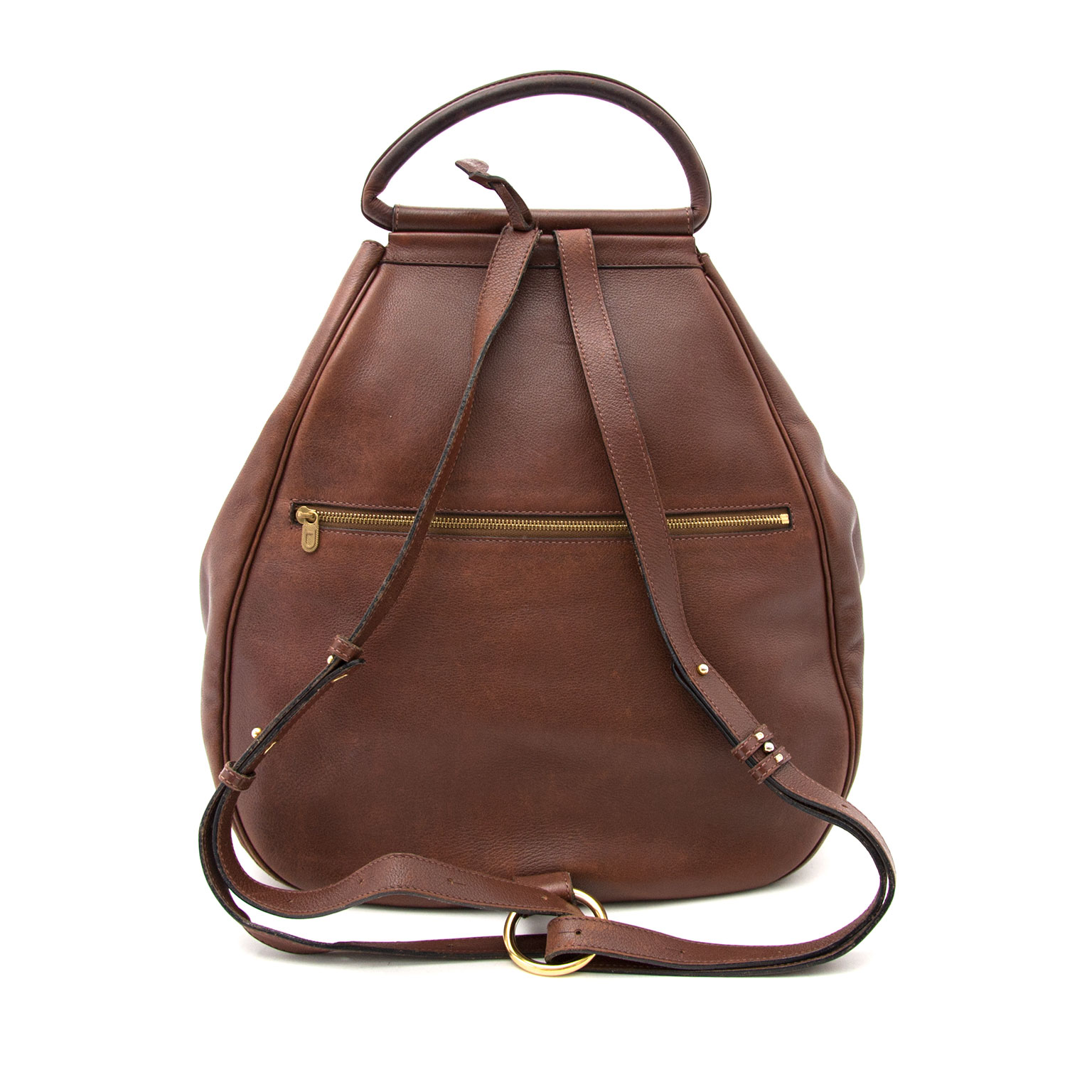 Authentic Delvaux Brown Lucifer Backpack Bag at the right price at Labellov.com