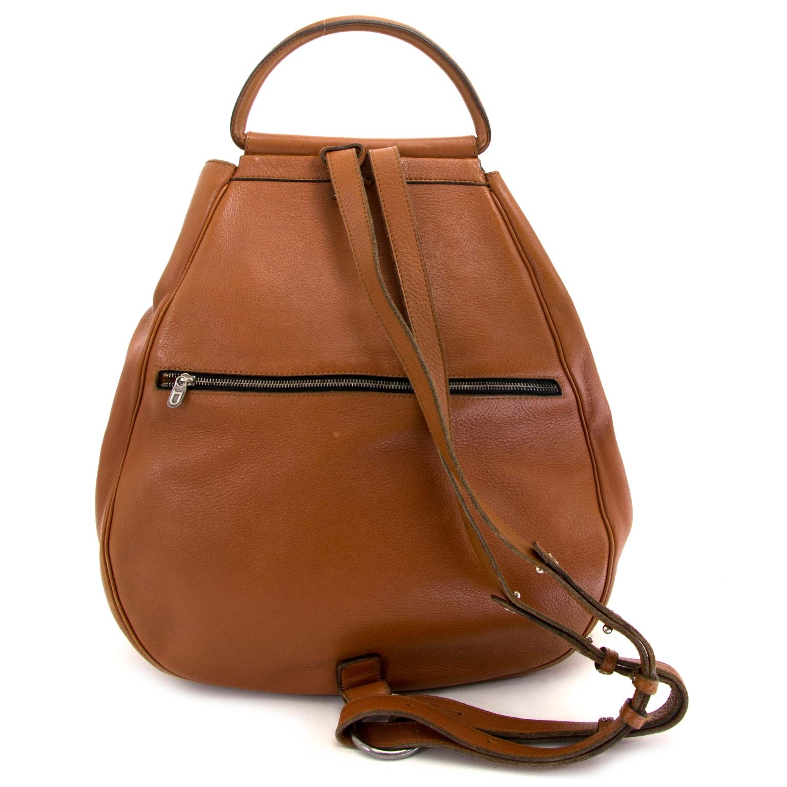 Delvaux Brown Cerceau Backpack te koop