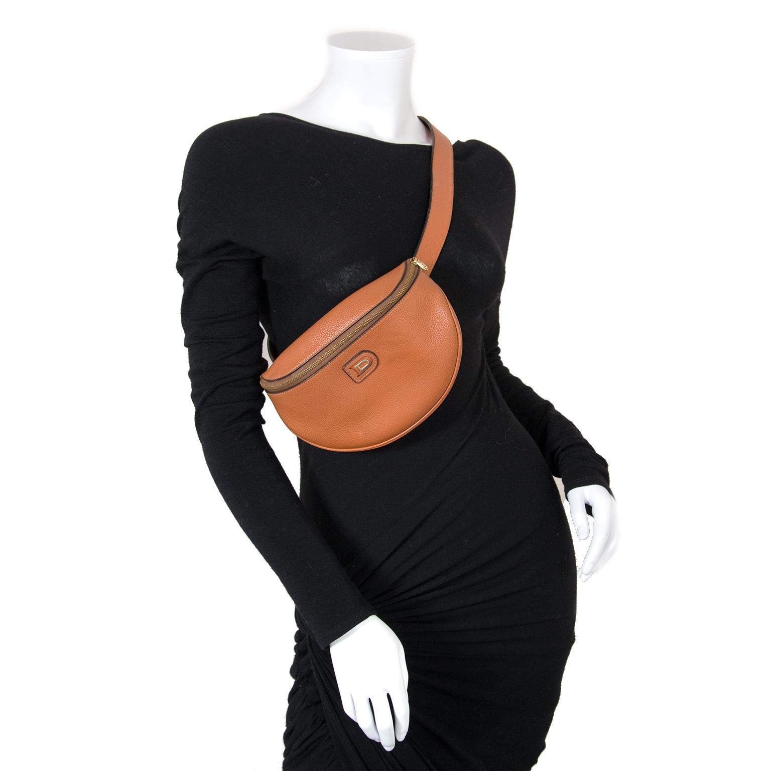 delvaux cognac leather belt bag now for sale at labellov vintage fashion webshop belgium