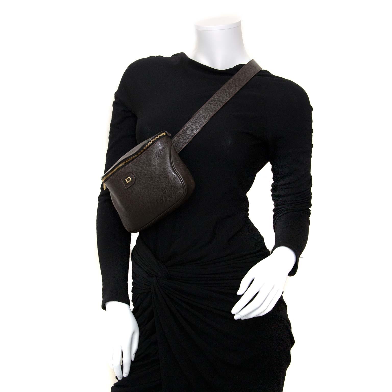 delvaux brown leather belt bag now for sale at labellov vintage fashion webshop belgium
