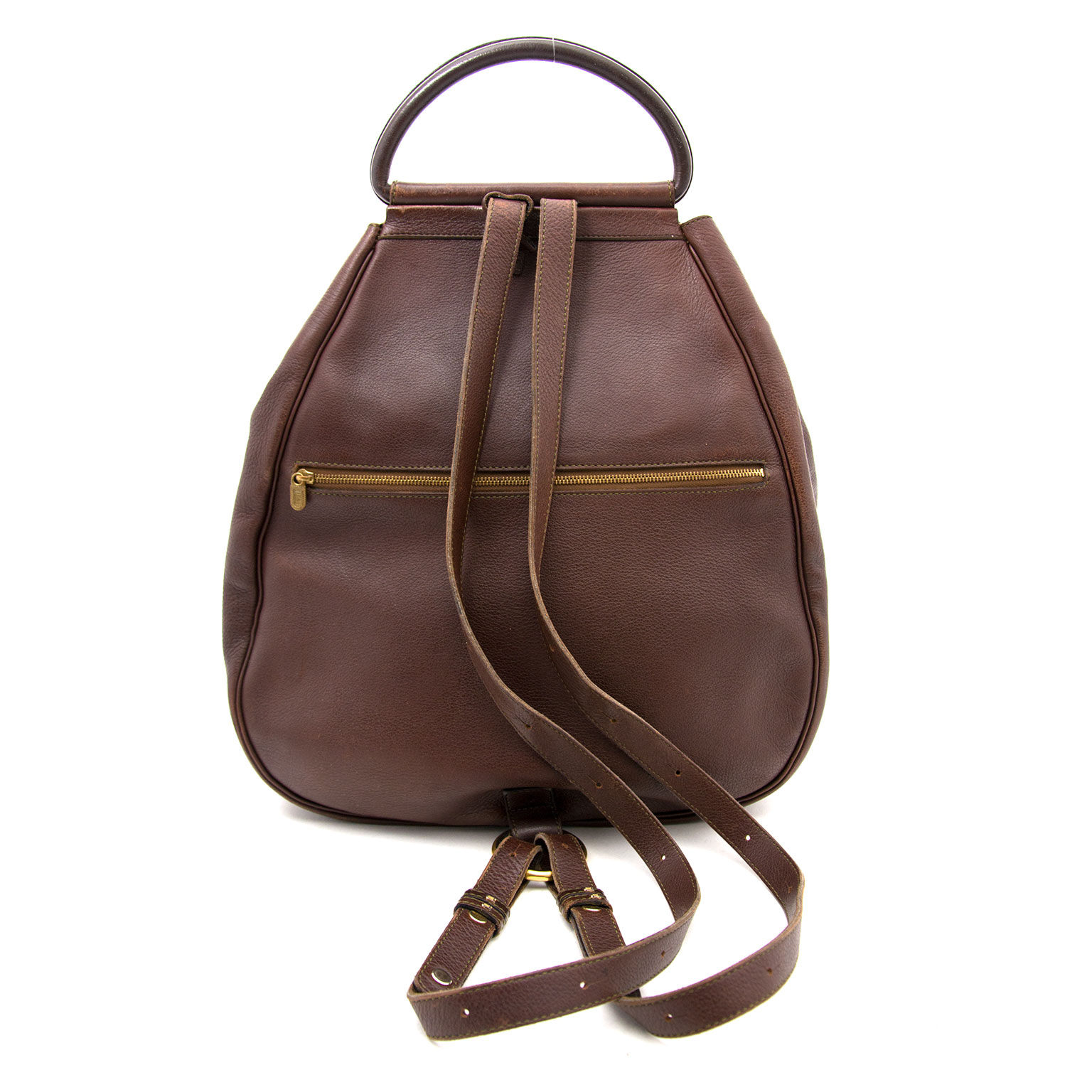 Are you looking for an authentic Delvaux Brown Leather Lucifer GM? Buy safe and secur at Labellov.