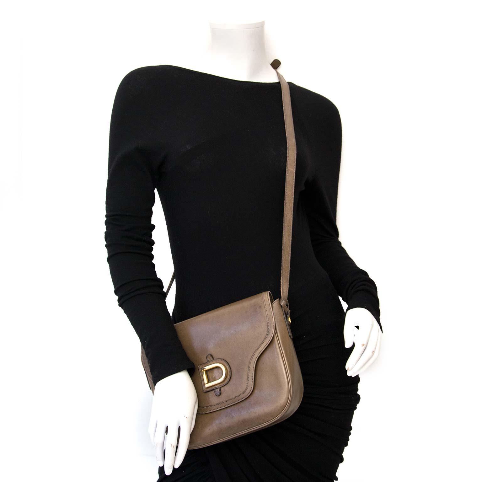 acheter en ligne pour le meilleur prix Delvaux Taupe Box Crossbody Bag