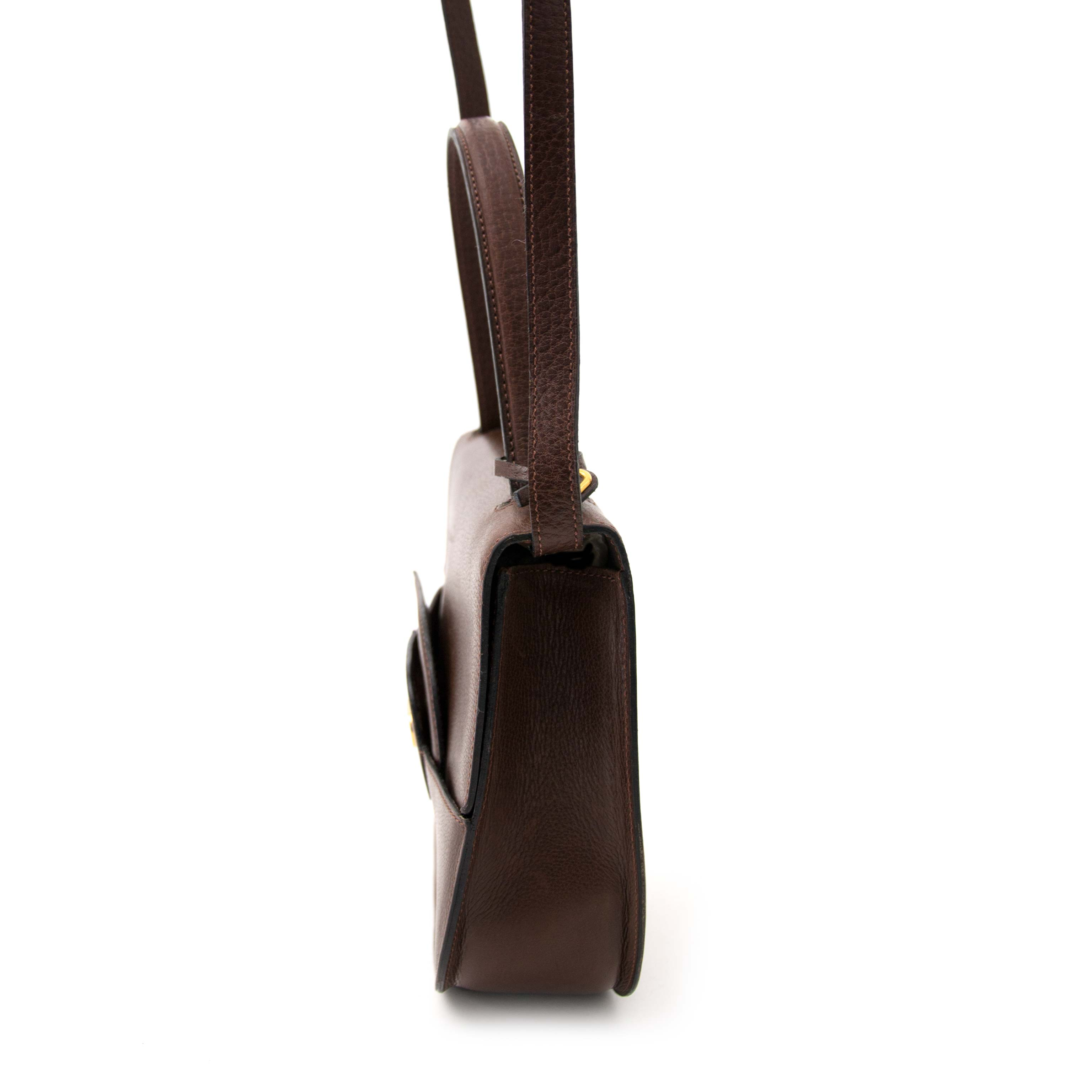 looking for a secondhand Delvaux Brown Top Handle / Shoulder Bag  online at the best price