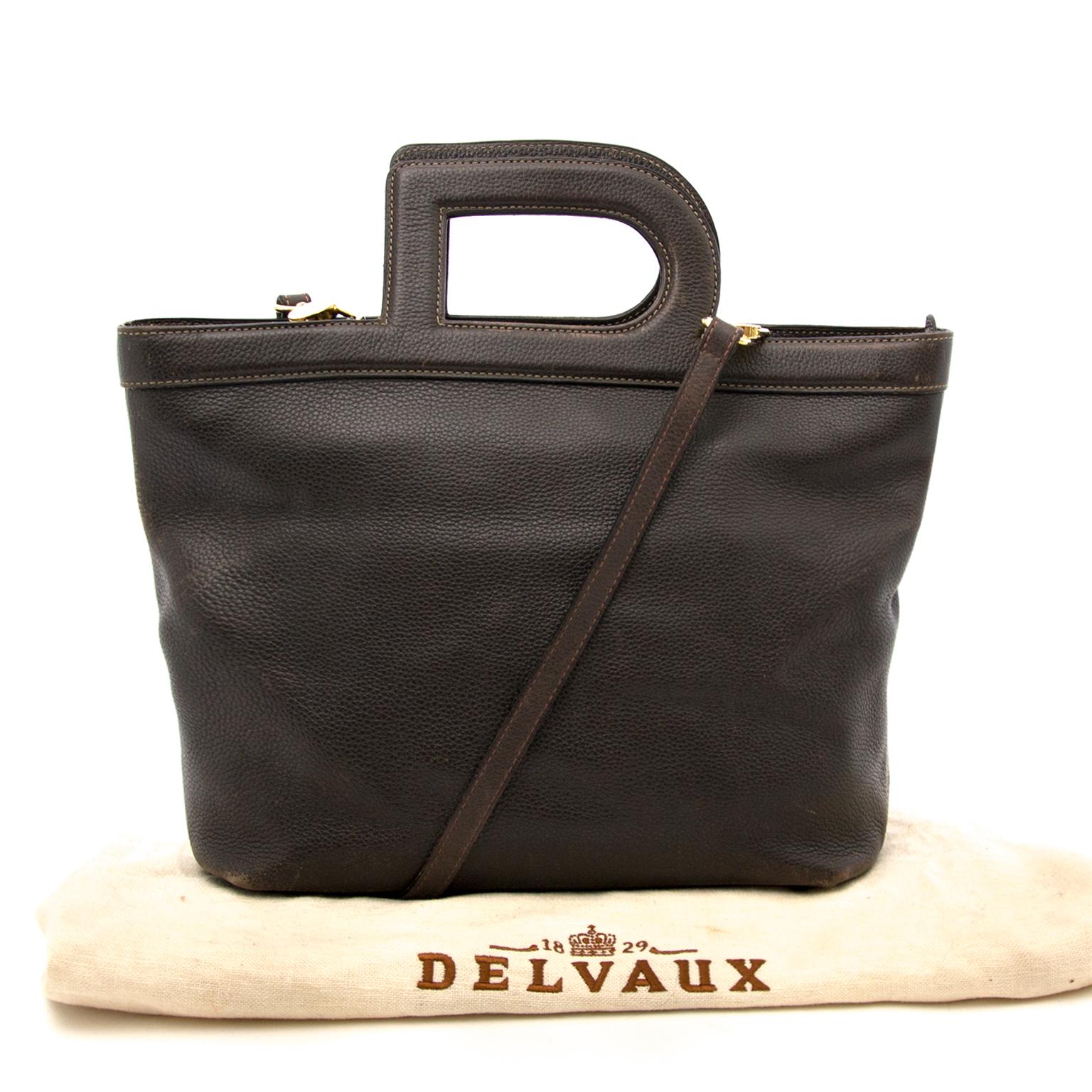 Acheter secur en ligne pour le meilleur prix Delvaux Brown D Top Handle Bag