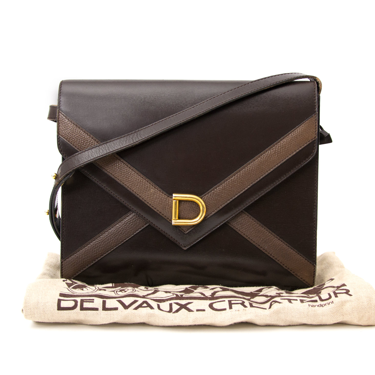 shop your Delvaux Dark Brown Envelope Cross Body  at the best price
