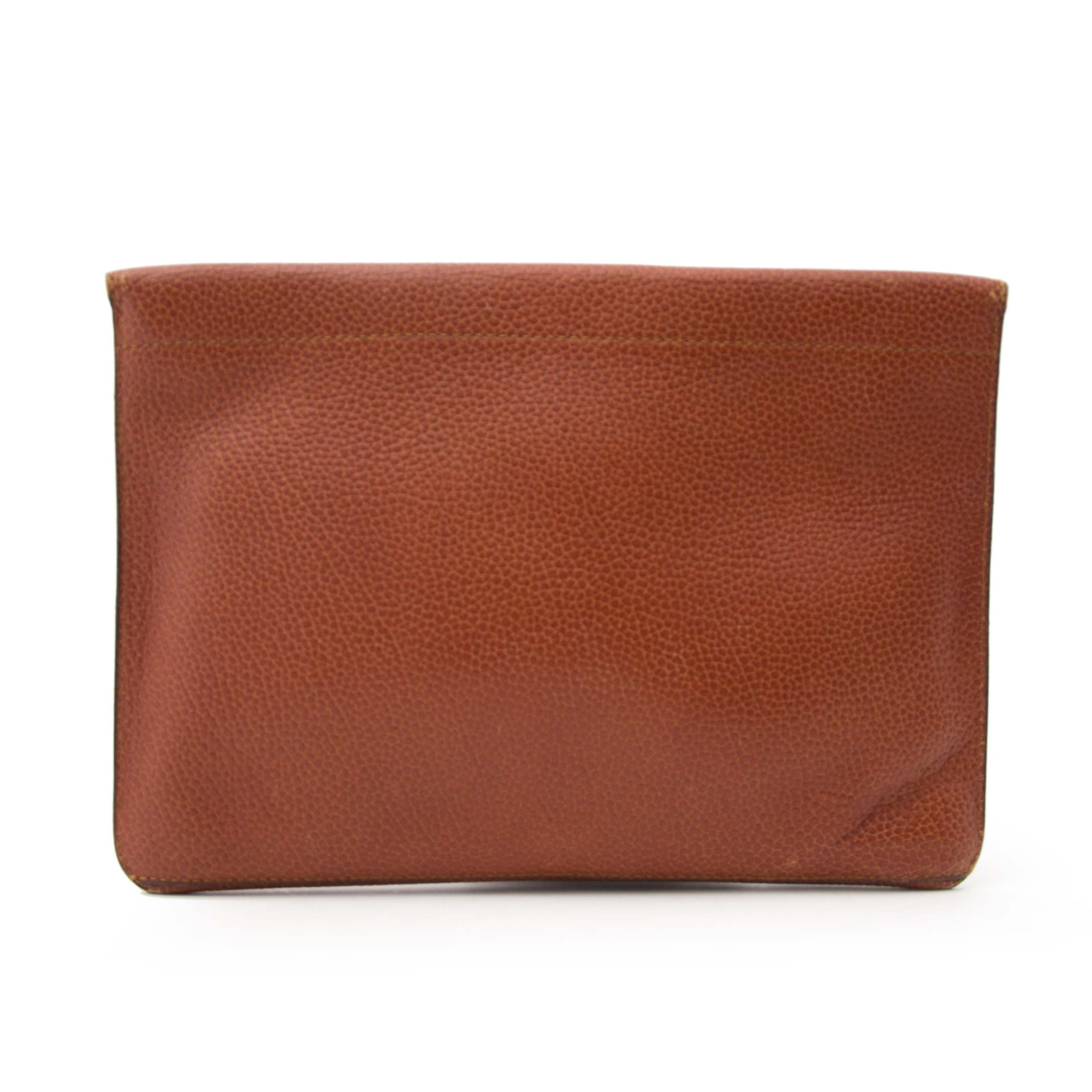 Delvaux Brown Leather Pochette for the best price
