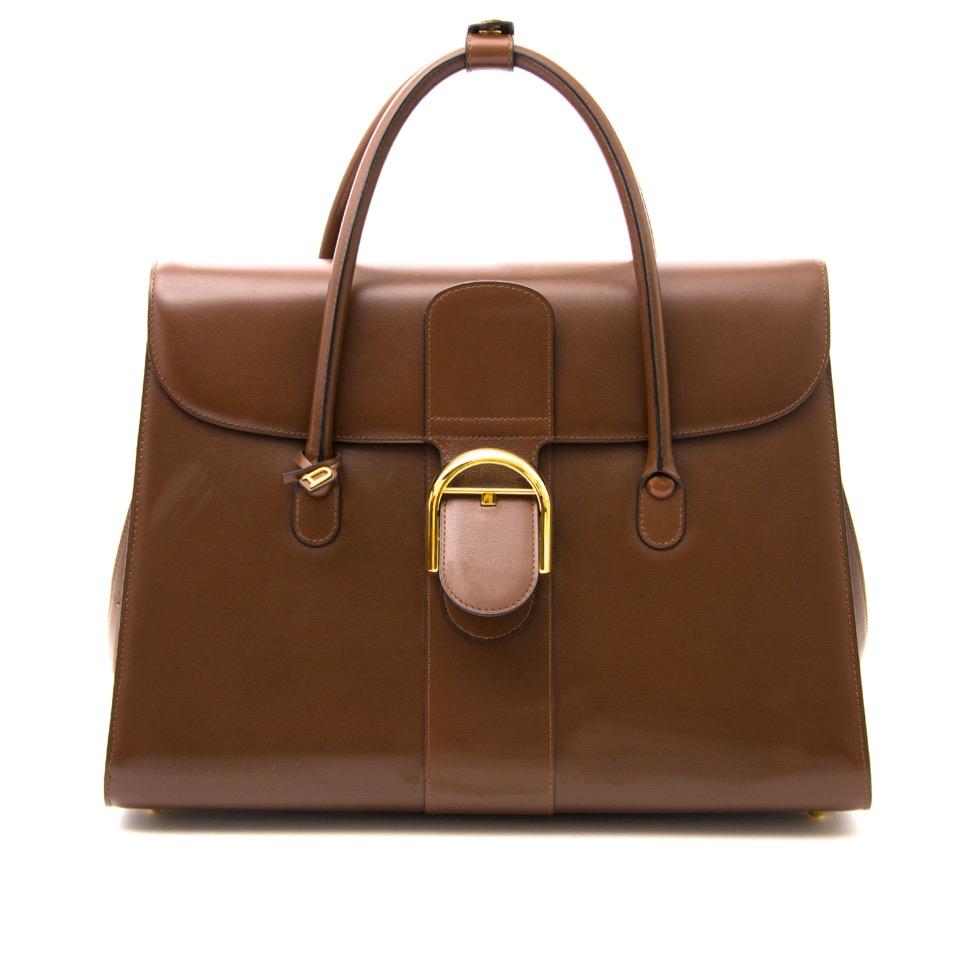 Delvaux Brown Double Poignée Brillant Bag aan de beste prijs online kopen en verkopen bij secondhand labellov