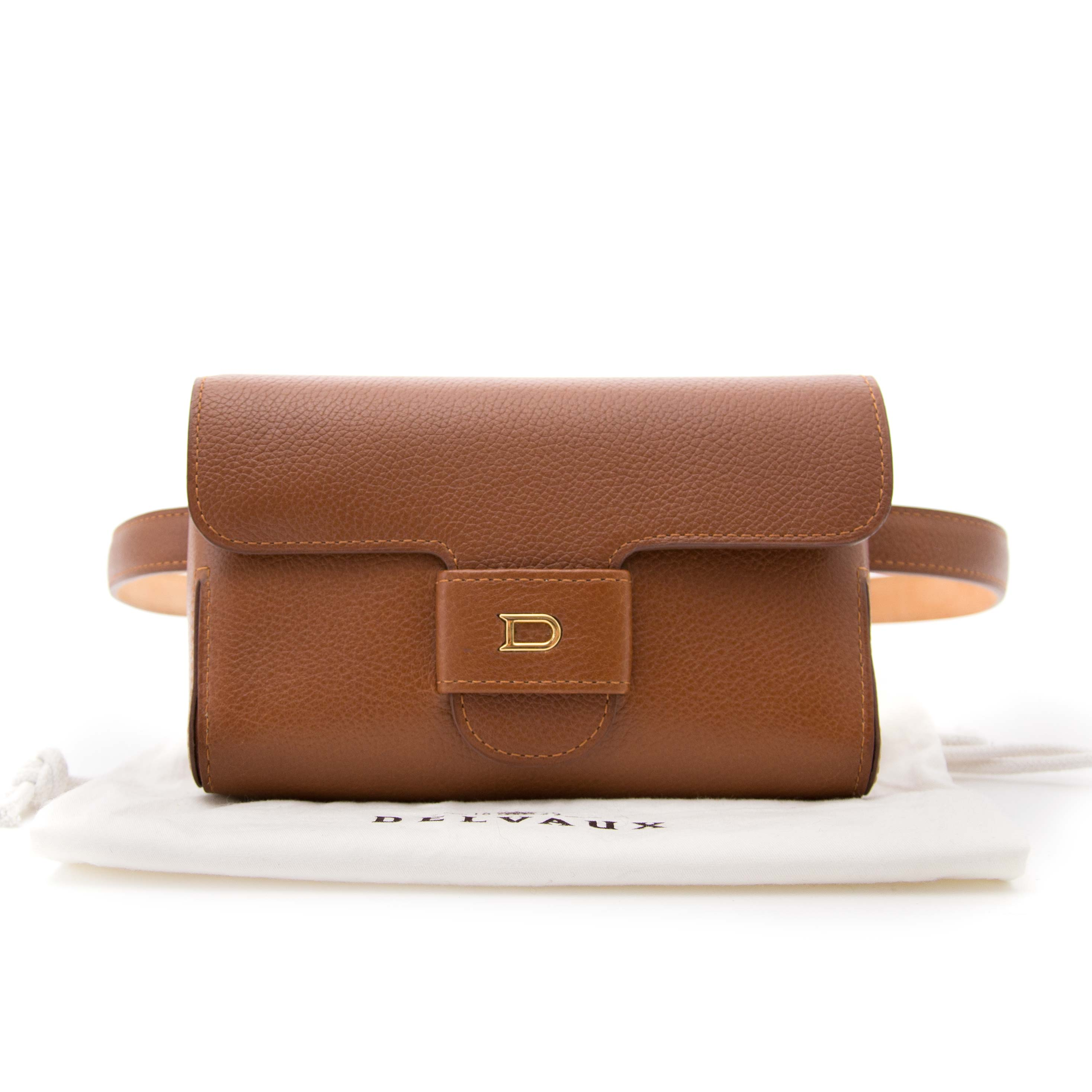 Delvaux Brown leather belt bag now online at labellov.com for the best price