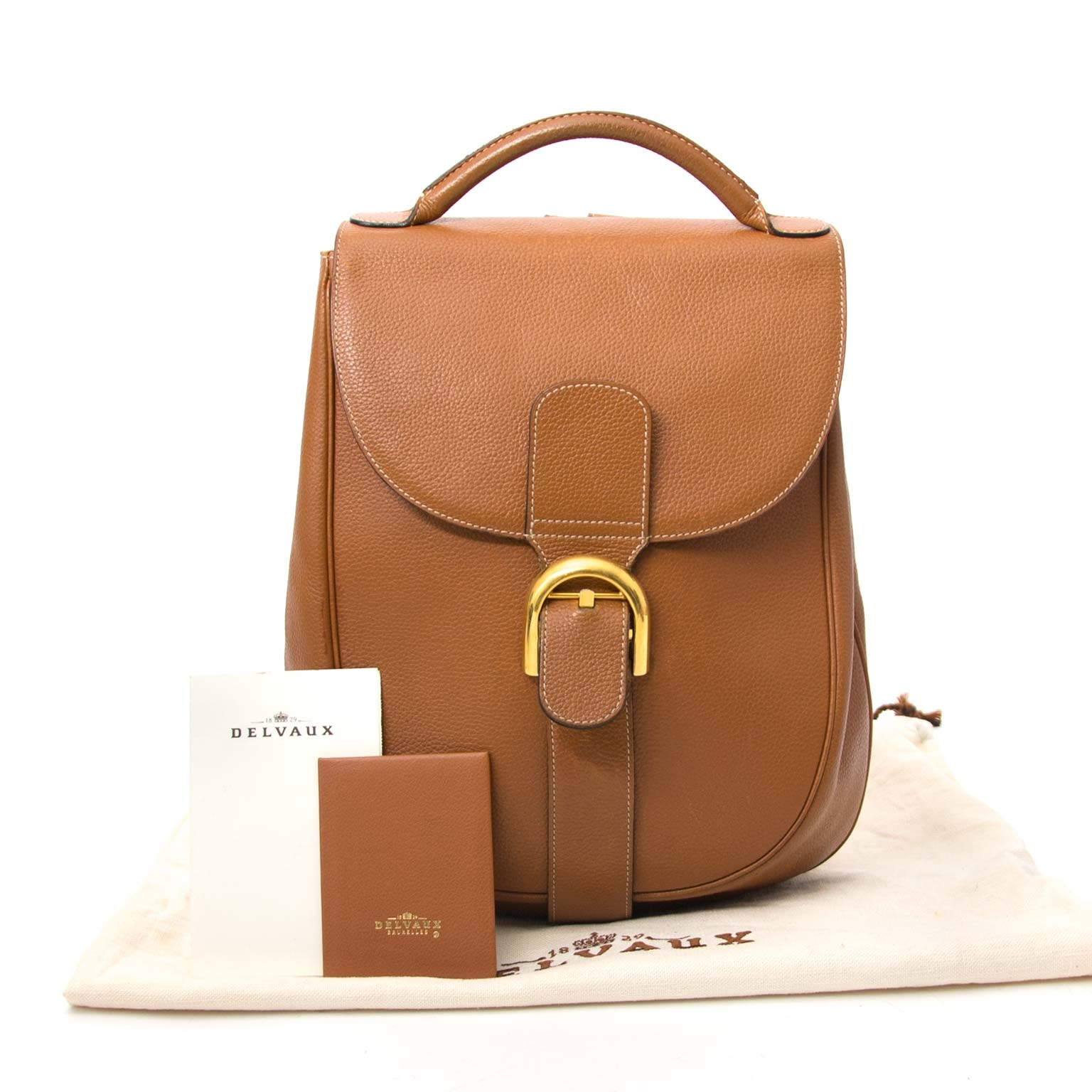 skip the waitinglist shop your Delvaux Brillant Backpack Cognac Leather online at the best price