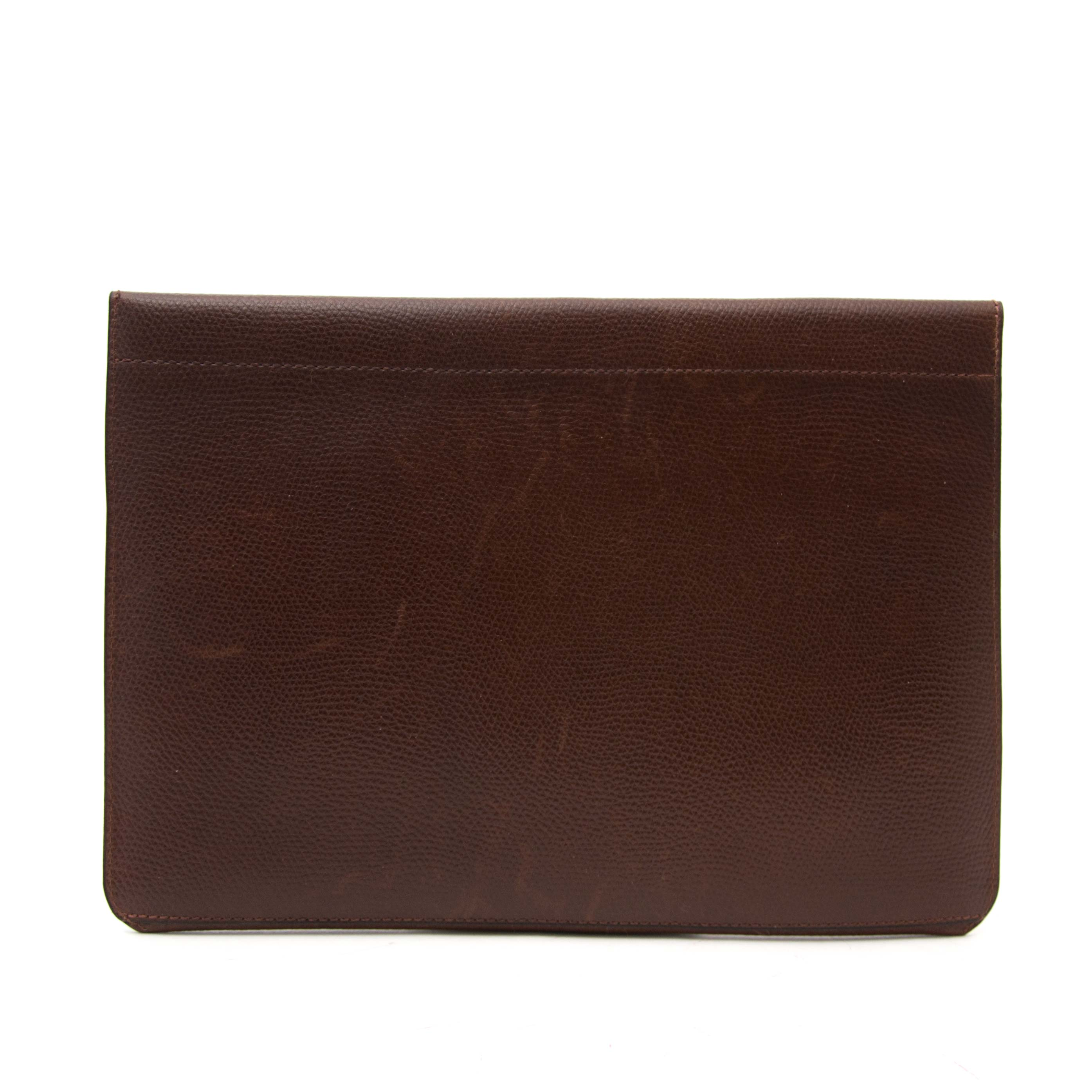 buy safe and secure online at labellov.com for the best price delvaux brown enveloppe clutch